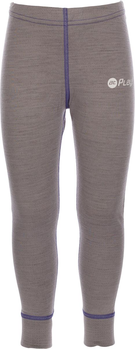 Термобелье брюки детские atPlay!, цвет: серый, фиолетовый. 3tpt763. Размер 1283tpt763Термобелье брюки atPlay! выполнены из шерсти мериносовых овец с добавлением синтетических волокон для большей износостойкости. Легкое, удобное, не стесняющее движений термобелье станет идеальным первым слоем и отличным дополнением к мембранной одежде.Спасает от переохлаждения и от перегрева, а также отводит излишек влаги от кожи. Плоские швы не натирают и не давят на кожу. Шерсть мериносов не колется и не вызывает аллергию.