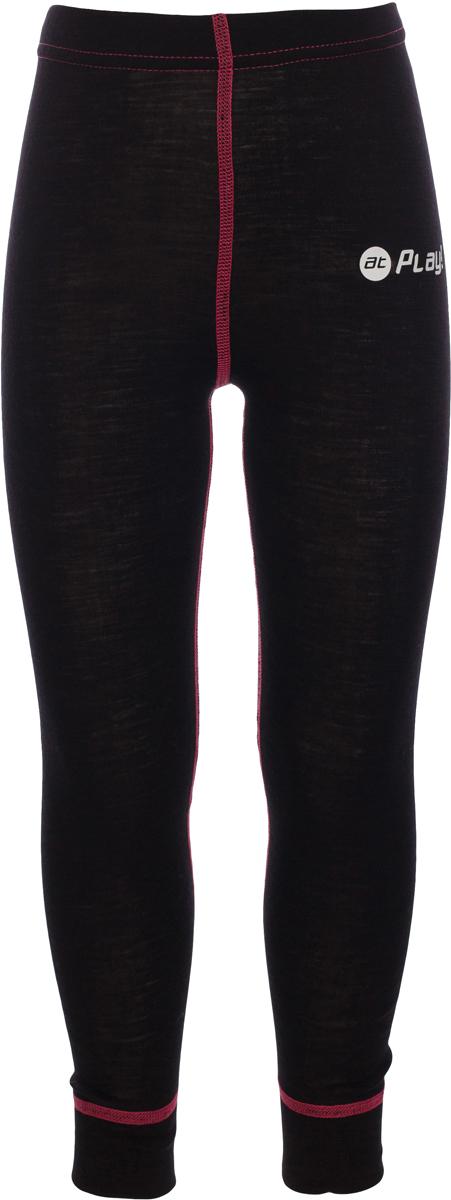 Термобелье брюки детские atPlay!, цвет: черный, розовый. 3tpt763. Размер 1403tpt763Термобелье брюки atPlay! выполнены из шерсти мериносовых овец с добавлением синтетических волокон для большей износостойкости. Легкое, удобное, не стесняющее движений термобелье станет идеальным первым слоем и отличным дополнением к мембранной одежде.Спасает от переохлаждения и от перегрева, а также отводит излишек влаги от кожи. Плоские швы не натирают и не давят на кожу. Шерсть мериносов не колется и не вызывает аллергию.