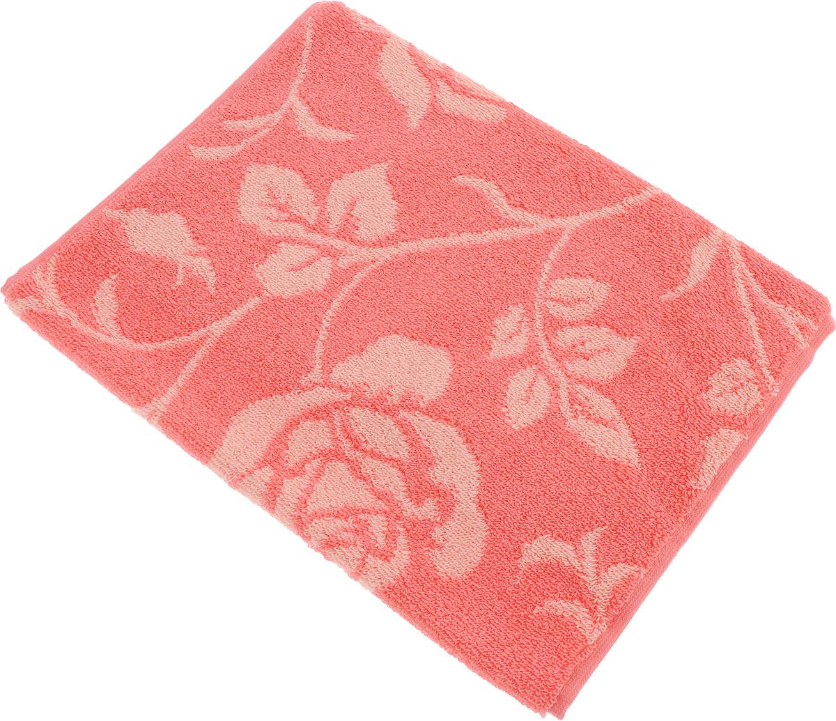 Полотенце Aquarelle Розы 2, цвет: розово-персиковый, коралловый, 35 х 70 см710657Банное полотенце Aquarelle Розы 2 выполнено из махровой ткани и оформлено принтом с розами. Изделие отлично впитывает влагу, быстро сохнет, сохраняет яркость цвета и нетеряет форму даже после многократных стирок.Такое полотенце очень практично и неприхотливо в уходе.