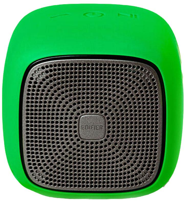 Edifier MP200, Green портативная акустическая системаMP200 GreenEdifier MP200 - кубик счастья, заряженный мощными звуками. 5,5 Вт - небывалая мощь для такого размера. Совместимость с технологией Bluetooth 4.1 и функцией microSD дает вам несколько способов воспроизведения ваших любимых треков, а встроенный микрофон с функцией шумоподавления превращает систему в надежного секретаря. Наличие встроенного CSR значительно снизило помехи при дистанционном использовании.Встроенный аккумулятор 2200 мАч высокой емкости позволяет использовать MP200 до 12 часов в режиме воспроизведения музыки.Edifier МР200 не страшны капризы погоды. Высокая степень влагозащиты подтверждена стандартом IP54.