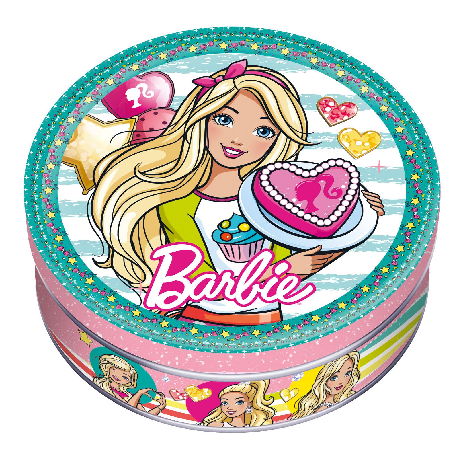 Barbie печенье сдобное с шоколадом, 150 гMC-6-4/BAПеченье в яркой подарочной банке с изображением всемирно известной Барби не оставит равнодушной ни одну девочку. А поклонниц у этой героини – миллионы, причем в самых разных возрастных категориях. Вкусное лакомство, натуральный состав, повторноеУважаемые клиенты! Обращаем ваше внимание на то, что упаковка может иметь несколько видов дизайна. Поставка осуществляется в зависимости от наличия на складе.