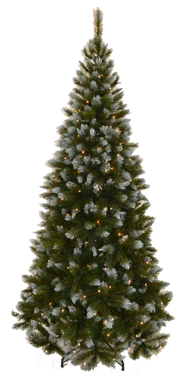 """Ель искусственная Triumph Tree """"Женева"""", с гирляндой, заснеженная, высота 185 см"""
