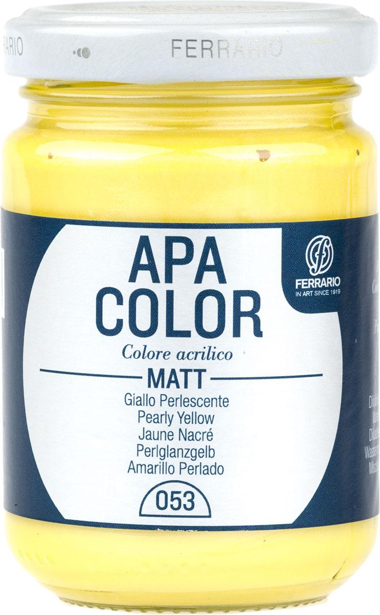 Ferrario Краска акриловая Apa Color цвет желтый перламутровый BA0095AO053 -  Краски