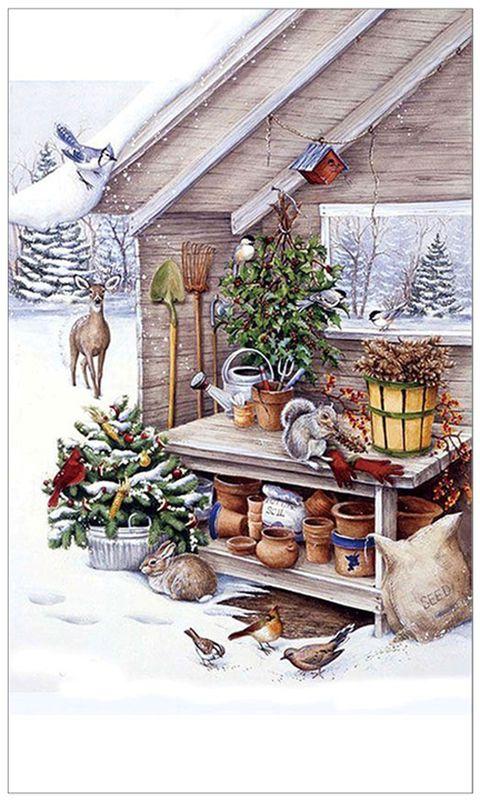 Полотенце кухонное Soavita Зима, 38 х 64 см93509Что бы изделие прослужило долго, нужно соблюдать правила ухода, см. значки ухода за изделием.