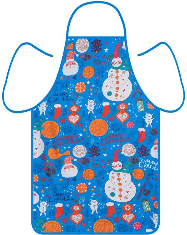 Фартук кухонный Soavita Новогодний, 50 х 73 см93531Фартук имеет универсальный размер, снабжен петлей и двумя завязками на талии. Фартук - необходимая вещь на каждой кухне.