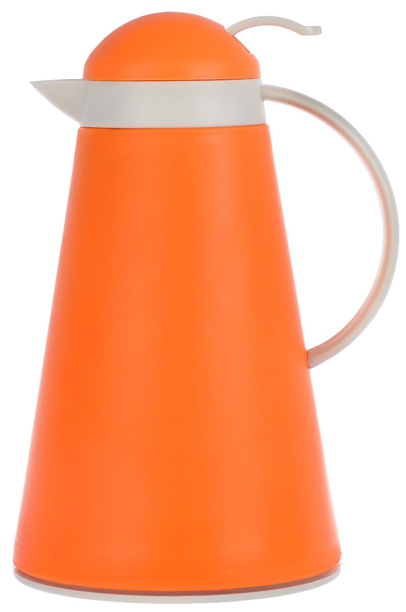 Термос Mayer & Boch, цвет: оранжевый, белый, 1 л. 2255022550_оранжевыйТермос Mayer & Boch выполнен из качественного полипропилена, который не вступает в реакцию с содержимым термоса и не изменяет вкусовых качеств напитка. Двойные стенки из прочного стекла сохраняют температуру на срок до 12 часов.Вакуумная закручивающаяся крышка предохраняет от проливаний, а также она дополнена пластиковым рычагом, который позволяет наливать напитки не открывая термос. Цветное покрытие обеспечивает защиту от истирания корпуса.Прочный и надежный термос станет незаменимым помощником в домашнем хозяйстве, для рыболовов, охотников, а так же его оценят путешественники и туристы.Не рекомендуется мыть в посудомоечной машине.Диаметр горлышка: 7 см.Диаметр основания термоса: 16 см.Высота термоса: 28 см.