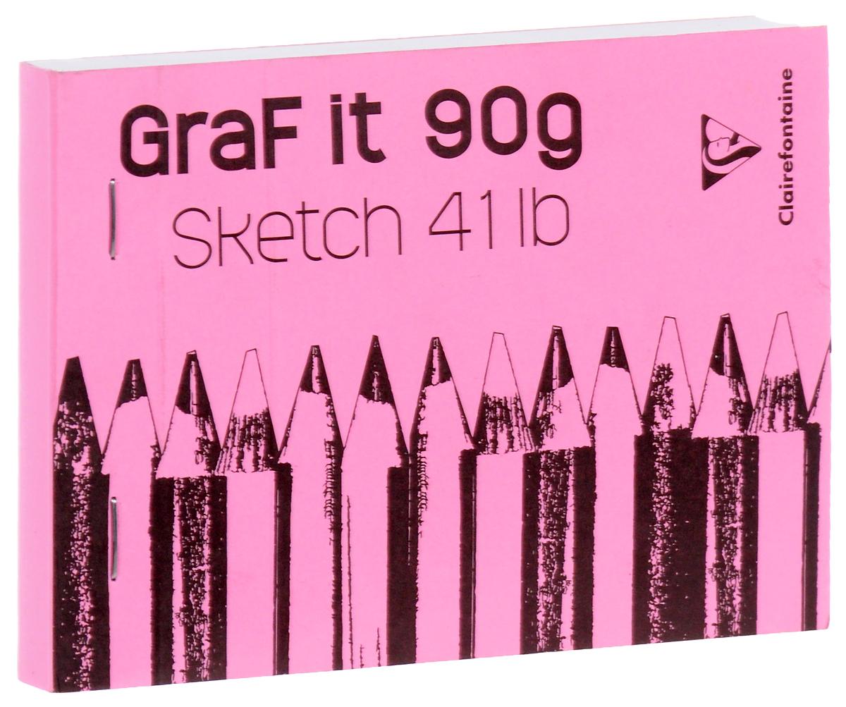 Блокнот Clairefontaine Graft It, на скобах, цвет: розовый, 80 листов блокнот не трогай мой блокнот а5 144 стр