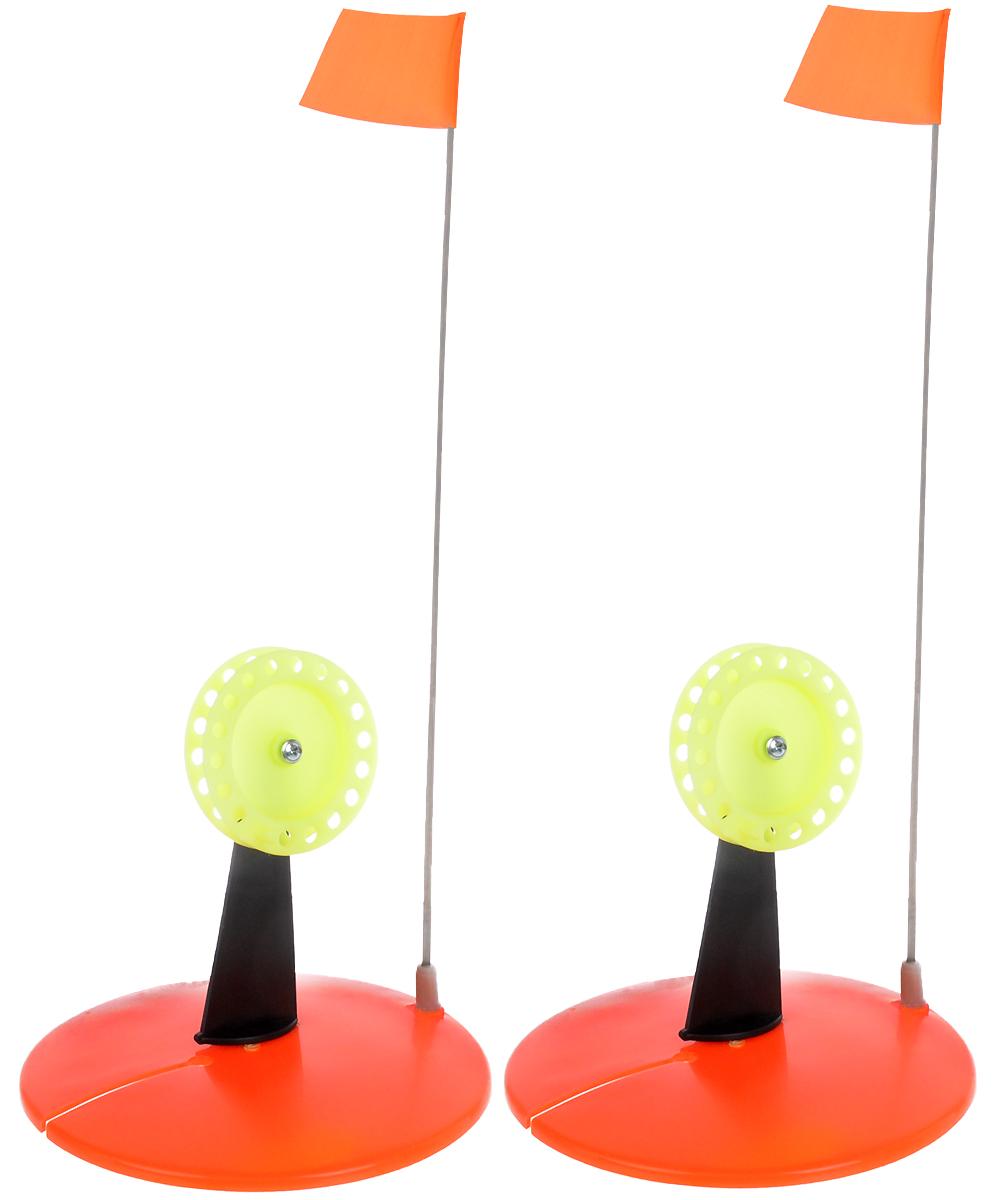 Жерлица неоснащенная Asseri, цвет: оранжевый, желтый2043363_оранжевый, желтыйС помощью жерлицы для зимней рыбалки Asseri можно обеспечить легкий процесс рыбной ловли на окуней, щук, судаков и других хищников. Конструкция довольно надежная и прочная. Для лучшей сигнализации имеется флажок, который выпрямляется во время поклевки. Используется для ловли рыбы на затемненную лунку. Большое и прочное основание из морозостойкого полипропилена гарантирует затемнение и защиту лунки от замерзания. На основании находятся: прорезь для заводы лески, паз для крепления стойки с катушкой, паз под крепление сигнализатора.Размер жерлицы: 18 х 18 х 16 см.Размер флажка: 6,5 x 6 см.Какая приманка для спиннинга лучше. Статья OZON Гид