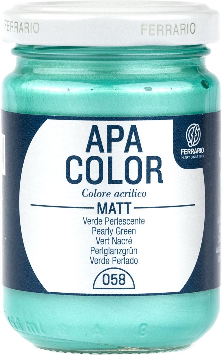 Ferrario Краска акриловая Apa Color цвет зеленый перламутровый BA0095AO058BA0095AO058Матовая акриловая краска Apa Color итальянской компании Ferrario на водной основе, готова к использованию. Основные качества акриловой краски Apa Color: прочность, светостойкость и экологичность. Благодаря акриловой смоле Apa Color пластична и не дает трещин. Именно поэтому краска прекрасно ложится на любые поверхности, будь то стекло, дерево или ткань, что особенно хорошо в дизайне и декоре. Она быстро сохнет, после высыхания становится водостойкой. Акриловая краска Apa Color не потускнеет со временем, ее светостойкость не позволит измениться цвету, он не выгорит на солнце и не пожелтеет. Акриловая краска Apa Color – это отличный выбор в пользу яркой живописи, так как в ее палитре только глубокие и насыщенные цвета. Из-за того, что акриловая краска Apa Color на водной основе, она почти совсем не пахнет, малотоксична – подходит для работы в помещениях, можно заниматься творчеством вместе с детьми. Акриловая краска Apa Color разводится водой, однако это не значит, что для нее нельзя использовать специальные растворители и медиумы, предназначенные для акриловых красок – в этом случае сохраняется высокая пигментированность, но объем краски увеличивается и появляется возможность создания различных фактур и эффектов. Акриловую краску Apa Color легко наносить кистью, шпателем, валиком.