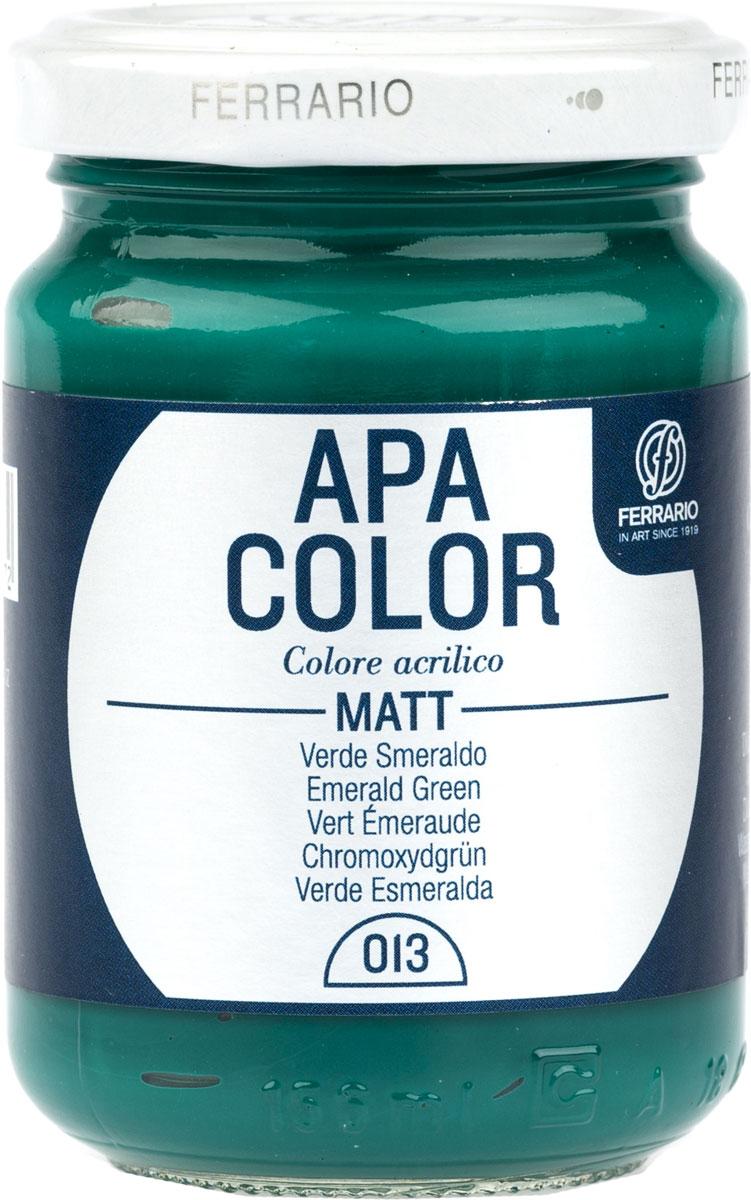 Ferrario Краска акриловая Apa Color цвет изумрудный зеленыйBA0095AO013Матовая акриловая краска Apa Color итальянской компании Ferrario на водной основе, готова к использованию. Основные качества акриловой краски Apa Color: прочность, светостойкость и экологичность. Благодаря акриловой смоле Apa Color пластична и не дает трещин. Именно поэтому краска прекрасно ложится на любые поверхности, будь то стекло, дерево или ткань, что особенно хорошо в дизайне и декоре. Она быстро сохнет, после высыхания становится водостойкой. Акриловая краска Apa Color не потускнеет со временем, ее светостойкость не позволит измениться цвету, он не выгорит на солнце и не пожелтеет. Акриловая краска Apa Color – это отличный выбор в пользу яркой живописи, так как в ее палитре только глубокие и насыщенные цвета. Из-за того, что акриловая краска Apa Color на водной основе, она почти совсем не пахнет, малотоксична – подходит для работы в помещениях, можно заниматься творчеством вместе с детьми. Акриловая краска Apa Color разводится водой, однако это не значит, что для нее нельзя использовать специальные растворители и медиумы, предназначенные для акриловых красок – в этом случае сохраняется высокая пигментированность, но объем краски увеличивается и появляется возможность создания различных фактур и эффектов. Акриловую краску Apa Color легко наносить кистью, шпателем, валиком.