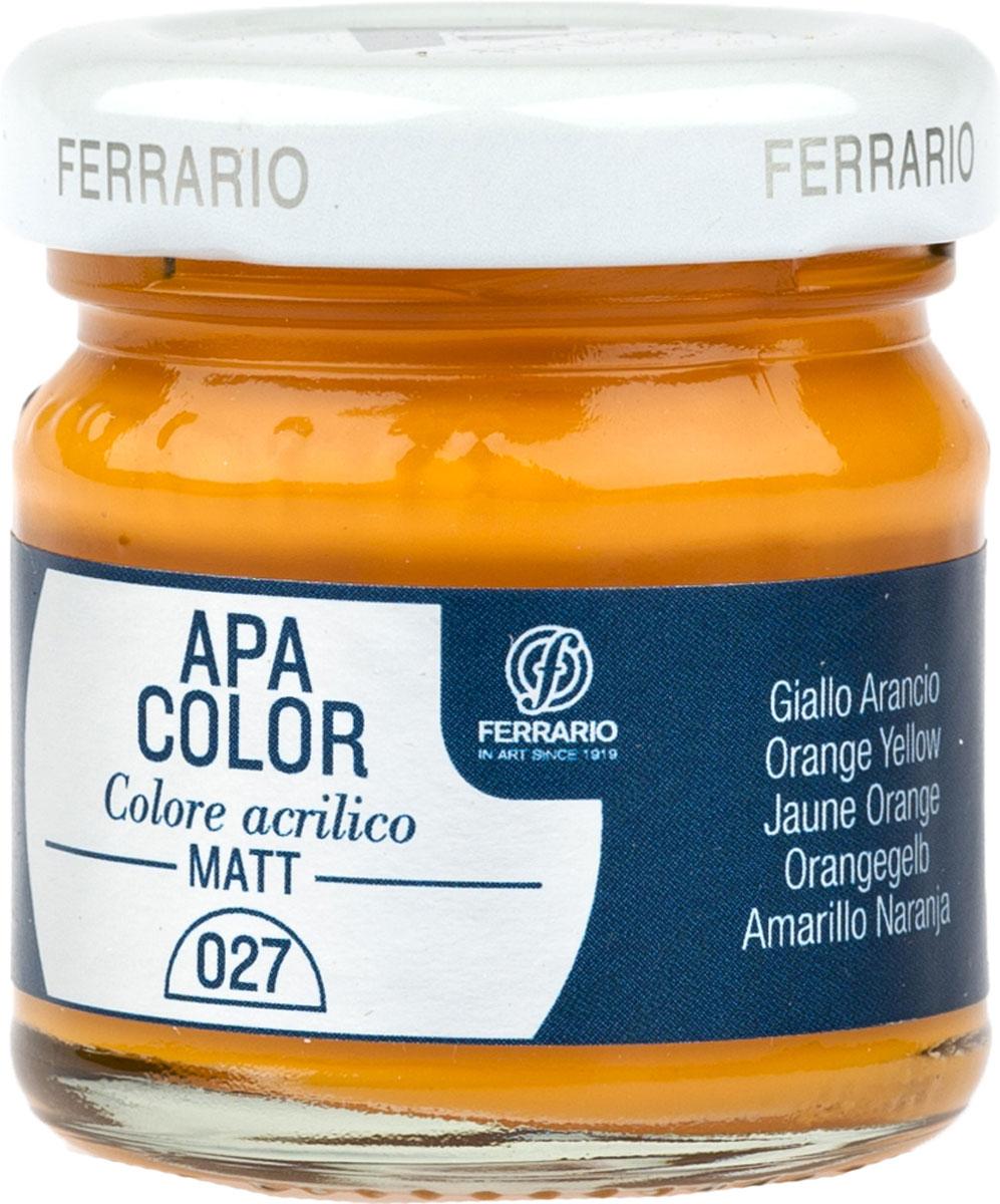 Ferrario Краска акриловая Apa Color цвет кадмий желтыйBA0040А0027Матовая акриловая краска Apa Color итальянской компании Ferrario на водной основе, готова к использованию. Основные качества акриловой краски Apa Color: прочность, светостойкость и экологичность. Благодаря акриловой смоле Apa Color пластична и не дает трещин. Именно поэтому краска прекрасно ложится на любые поверхности, будь то стекло, дерево или ткань, что особенно хорошо в дизайне и декоре. Она быстро сохнет, после высыхания становится водостойкой. Акриловая краска Apa Color не потускнеет со временем, ее светостойкость не позволит измениться цвету, он не выгорит на солнце и не пожелтеет. Акриловая краска Apa Color – это отличный выбор в пользу яркой живописи, так как в ее палитре только глубокие и насыщенные цвета. Из-за того, что акриловая краска Apa Color на водной основе, она почти совсем не пахнет, малотоксична – подходит для работы в помещениях, можно заниматься творчеством вместе с детьми. Акриловая краска Apa Color разводится водой, однако это не значит, что для нее нельзя использовать специальные растворители и медиумы, предназначенные для акриловых красок – в этом случае сохраняется высокая пигментированность, но объем краски увеличивается и появляется возможность создания различных фактур и эффектов. Акриловую краску Apa Color легко наносить кистью, шпателем, валиком.