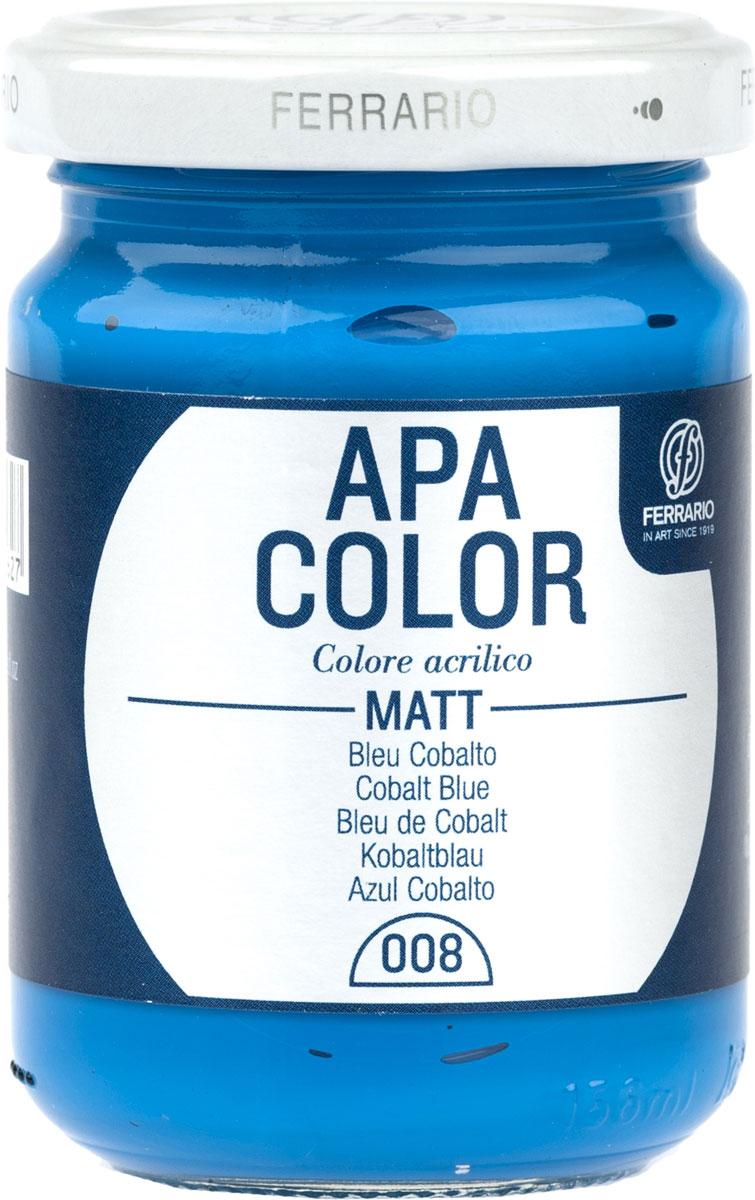 Ferrario Краска акриловая Apa Color цвет кобальт синий матовый 150 мл BA0095AO008BA0095AO008Матовая акриловая краска Apa Color итальянской компании Ferrario на водной основе, готова к использованию. Основные качества акриловой краски Apa Color: прочность, светостойкость и экологичность. Благодаря акриловой смоле Apa Color пластична и не дает трещин. Именно поэтому краска прекрасно ложится на любые поверхности, будь то стекло, дерево или ткань, что особенно хорошо в дизайне и декоре. Она быстро сохнет, после высыхания становится водостойкой. Акриловая краска Apa Color не потускнеет со временем, ее светостойкость не позволит измениться цвету, он не выгорит на солнце и не пожелтеет. Акриловая краска Apa Color – это отличный выбор в пользу яркой живописи, так как в ее палитре только глубокие и насыщенные цвета. Из-за того, что акриловая краска Apa Color на водной основе, она почти совсем не пахнет, малотоксична – подходит для работы в помещениях, можно заниматься творчеством вместе с детьми. Акриловая краска Apa Color разводится водой, однако это не значит, что для нее нельзя использовать специальные растворители и медиумы, предназначенные для акриловых красок – в этом случае сохраняется высокая пигментированность, но объем краски увеличивается и появляется возможность создания различных фактур и эффектов. Акриловую краску Apa Color легко наносить кистью, шпателем, валиком.