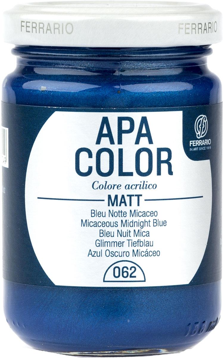 Ferrario Краска акриловая Apa Color цвет кобальт синий металлик 150 мл BA0095AO062BA0095AO062Матовая акриловая краска Apa Color итальянской компании Ferrario на водной основе, готова к использованию. Основные качества акриловой краски Apa Color: прочность, светостойкость и экологичность. Благодаря акриловой смоле Apa Color пластична и не дает трещин. Именно поэтому краска прекрасно ложится на любые поверхности, будь то стекло, дерево или ткань, что особенно хорошо в дизайне и декоре. Она быстро сохнет, после высыхания становится водостойкой. Акриловая краска Apa Color не потускнеет со временем, ее светостойкость не позволит измениться цвету, он не выгорит на солнце и не пожелтеет. Акриловая краска Apa Color – это отличный выбор в пользу яркой живописи, так как в ее палитре только глубокие и насыщенные цвета. Из-за того, что акриловая краска Apa Color на водной основе, она почти совсем не пахнет, малотоксична – подходит для работы в помещениях, можно заниматься творчеством вместе с детьми. Акриловая краска Apa Color разводится водой, однако это не значит, что для нее нельзя использовать специальные растворители и медиумы, предназначенные для акриловых красок – в этом случае сохраняется высокая пигментированность, но объем краски увеличивается и появляется возможность создания различных фактур и эффектов. Акриловую краску Apa Color легко наносить кистью, шпателем, валиком.
