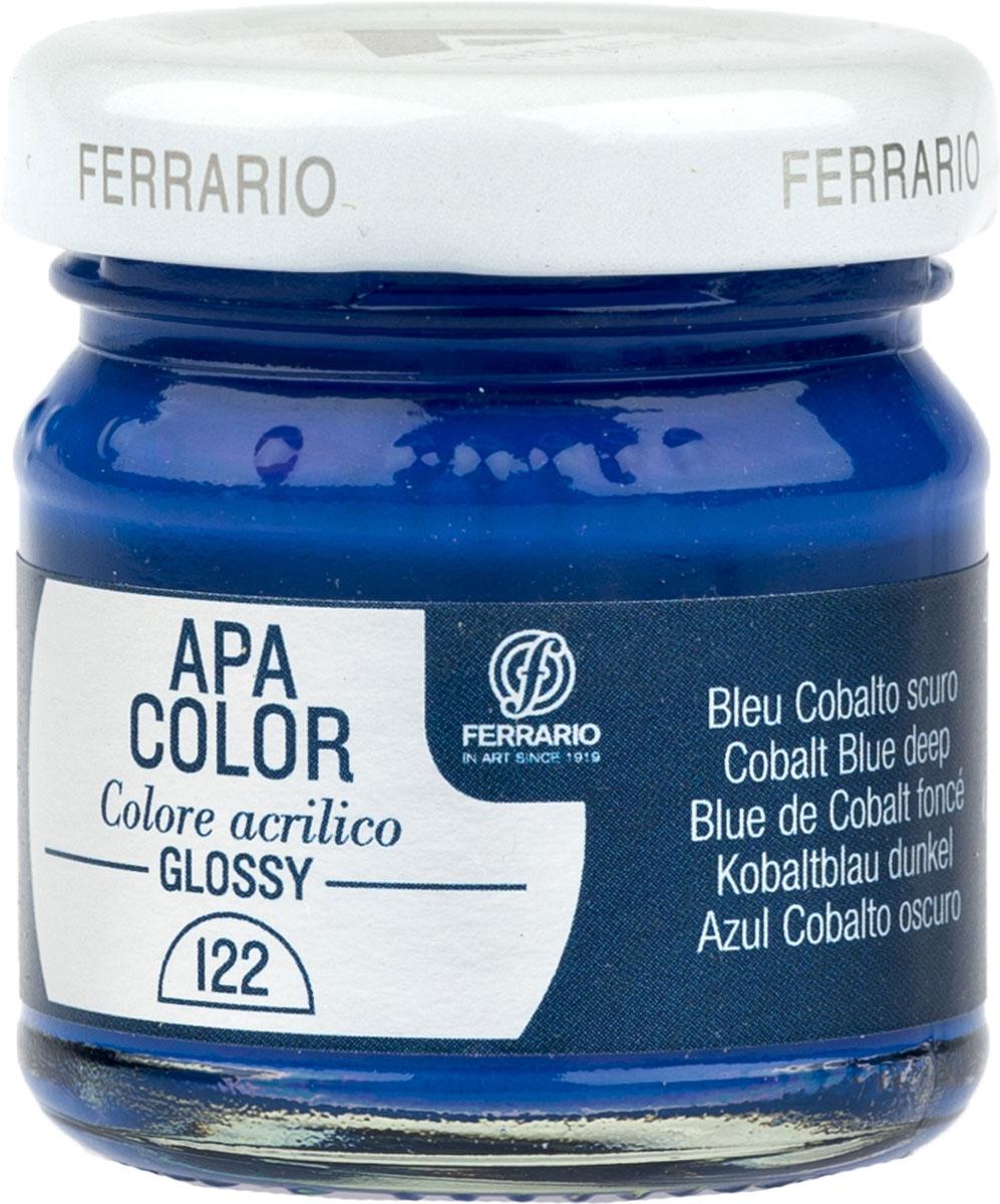Ferrario Краска акриловая Apa Color цвет кобальт синий темный BA0040В0122BA0040В0122Глянцевая акриловая краска Apa Color итальянской компании Ferrario на водной основе, готова к использованию. Основные качества акриловой краски Apa Color: прочность, светостойкость и экологичность. Благодаря акриловой смоле Apa Color пластична и не дает трещин. Именно поэтому краска прекрасно ложится на любые поверхности, будь то стекло, дерево или ткань, что особенно хорошо в дизайне и декоре. Она быстро сохнет, после высыхания становится водостойкой. Акриловая краска Apa Color не потускнеет со временем, ее светостойкость не позволит измениться цвету, он не выгорит на солнце и не пожелтеет. Акриловая краска Apa Color – это отличный выбор в пользу яркой живописи, так как в ее палитре только глубокие и насыщенные цвета. Из-за того, что акриловая краска Apa Color на водной основе, она почти совсем не пахнет, малотоксична – подходит для работы в помещениях, можно заниматься творчеством вместе с детьми. Акриловая краска Apa Color разводится водой, однако это не значит, что для нее нельзя использовать специальные растворители и медиумы, предназначенные для акриловых красок – в этом случае сохраняется высокая пигментированность, но объем краски увеличивается и появляется возможность создания различных фактур и эффектов. Акриловую краску Apa Color легко наносить кистью, шпателем, валиком.