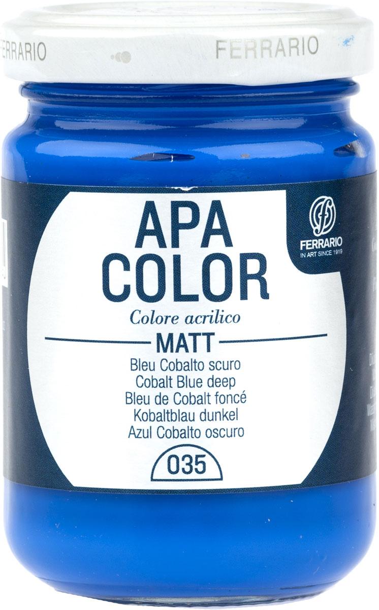 Ferrario Краска акриловая Apa Color цвет кобальт темно-синий 150 млBA0095AO035Матовая акриловая краска Apa Color итальянской компании Ferrario на водной основе, готова к использованию. Основные качества акриловой краски Apa Color: прочность, светостойкость и экологичность. Благодаря акриловой смоле Apa Color пластична и не дает трещин. Именно поэтому краска прекрасно ложится на любые поверхности, будь то стекло, дерево или ткань, что особенно хорошо в дизайне и декоре. Она быстро сохнет, после высыхания становится водостойкой. Акриловая краска Apa Color не потускнеет со временем, ее светостойкость не позволит измениться цвету, он не выгорит на солнце и не пожелтеет. Акриловая краска Apa Color – это отличный выбор в пользу яркой живописи, так как в ее палитре только глубокие и насыщенные цвета. Из-за того, что акриловая краска Apa Color на водной основе, она почти совсем не пахнет, малотоксична – подходит для работы в помещениях, можно заниматься творчеством вместе с детьми. Акриловая краска Apa Color разводится водой, однако это не значит, что для нее нельзя использовать специальные растворители и медиумы, предназначенные для акриловых красок – в этом случае сохраняется высокая пигментированность, но объем краски увеличивается и появляется возможность создания различных фактур и эффектов. Акриловую краску Apa Color легко наносить кистью, шпателем, валиком.