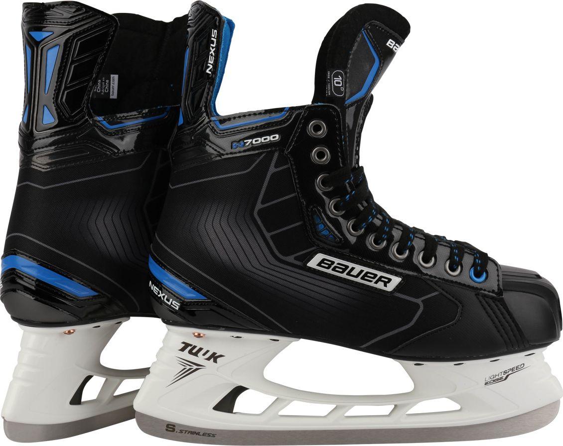 Коньки хоккейные мужские BAUER  Nexus N7000 , цвет: черный. 1048633. Размер 41 - Хоккей