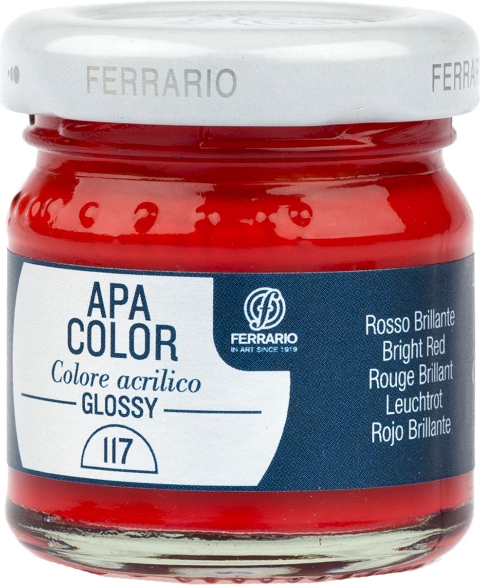 Ferrario Краска акриловая Apa Color цвет красный глянцевый 40 млBA0040В0117Глянцевая акриловая краска Apa Color итальянской компании Ferrario на водной основе, готова к использованию. Основные качества акриловой краски Apa Color: прочность, светостойкость и экологичность. Благодаря акриловой смоле Apa Color пластична и не дает трещин. Именно поэтому краска прекрасно ложится на любые поверхности, будь то стекло, дерево или ткань, что особенно хорошо в дизайне и декоре. Она быстро сохнет, после высыхания становится водостойкой. Акриловая краска Apa Color не потускнеет со временем, ее светостойкость не позволит измениться цвету, он не выгорит на солнце и не пожелтеет. Акриловая краска Apa Color – это отличный выбор в пользу яркой живописи, так как в ее палитре только глубокие и насыщенные цвета. Из-за того, что акриловая краска Apa Color на водной основе, она почти совсем не пахнет, малотоксична – подходит для работы в помещениях, можно заниматься творчеством вместе с детьми. Акриловая краска Apa Color разводится водой, однако это не значит, что для нее нельзя использовать специальные растворители и медиумы, предназначенные для акриловых красок – в этом случае сохраняется высокая пигментированность, но объем краски увеличивается и появляется возможность создания различных фактур и эффектов. Акриловую краску Apa Color легко наносить кистью, шпателем, валиком.