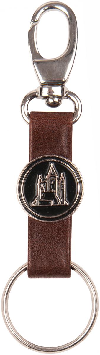 Брелок мужской Baron, цвет: коричневый. 0-3850-385 ит монтана коньякБрелок для ключей Baron выполнен из натуральной кожи и оформлен декоративнойметаллической пластиной. Изделие оснащено металлическим кольцом и карабином.Такой брелок станет стильным дополнением к ключам.