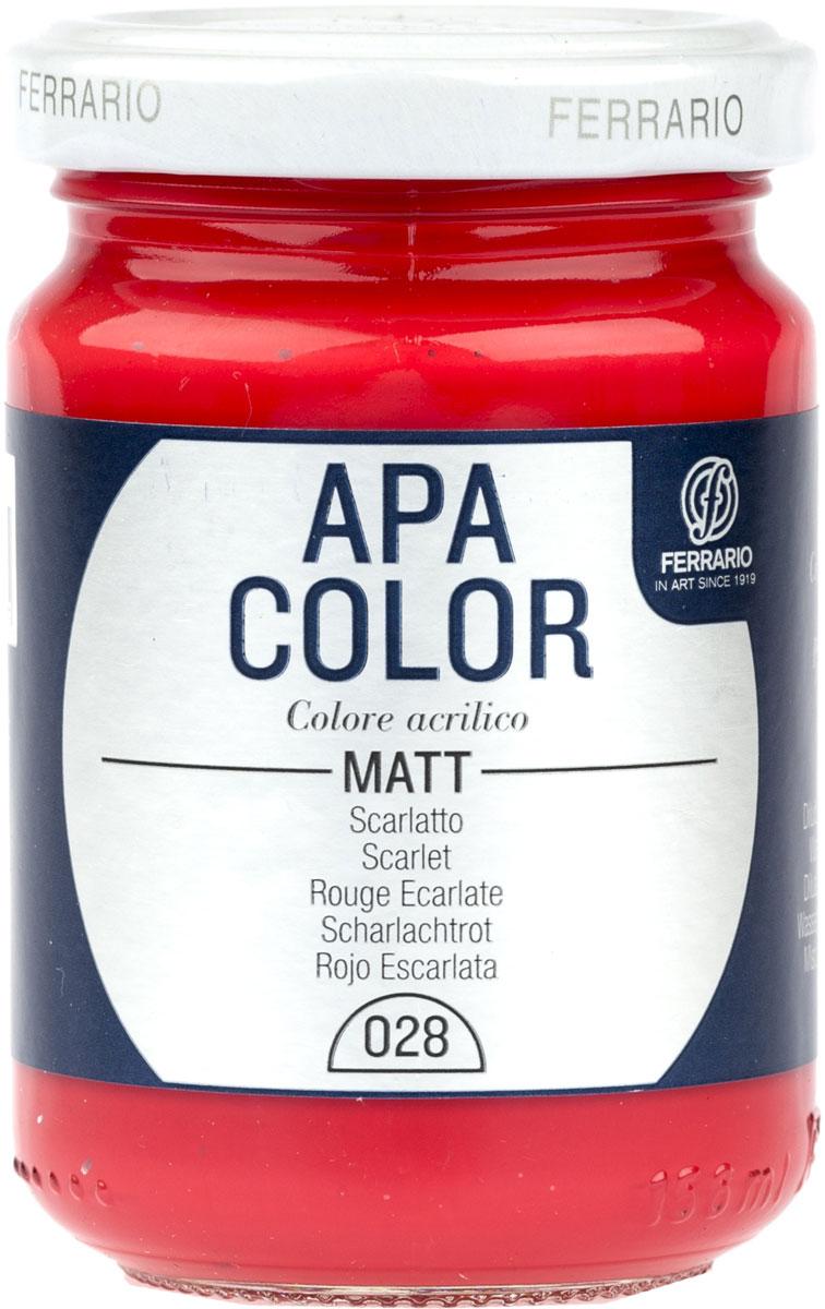 Ferrario Краска акриловая Apa Color цвет красный скарлет 150 млBA0095AO028Матовая акриловая краска Apa Color итальянской компании Ferrario на водной основе, готова к использованию. Основные качества акриловой краски Apa Color: прочность, светостойкость и экологичность. Благодаря акриловой смоле Apa Color пластична и не дает трещин. Именно поэтому краска прекрасно ложится на любые поверхности, будь то стекло, дерево или ткань, что особенно хорошо в дизайне и декоре. Она быстро сохнет, после высыхания становится водостойкой. Акриловая краска Apa Color не потускнеет со временем, ее светостойкость не позволит измениться цвету, он не выгорит на солнце и не пожелтеет. Акриловая краска Apa Color – это отличный выбор в пользу яркой живописи, так как в ее палитре только глубокие и насыщенные цвета. Из-за того, что акриловая краска Apa Color на водной основе, она почти совсем не пахнет, малотоксична – подходит для работы в помещениях, можно заниматься творчеством вместе с детьми. Акриловая краска Apa Color разводится водой, однако это не значит, что для нее нельзя использовать специальные растворители и медиумы, предназначенные для акриловых красок – в этом случае сохраняется высокая пигментированность, но объем краски увеличивается и появляется возможность создания различных фактур и эффектов. Акриловую краску Apa Color легко наносить кистью, шпателем, валиком.