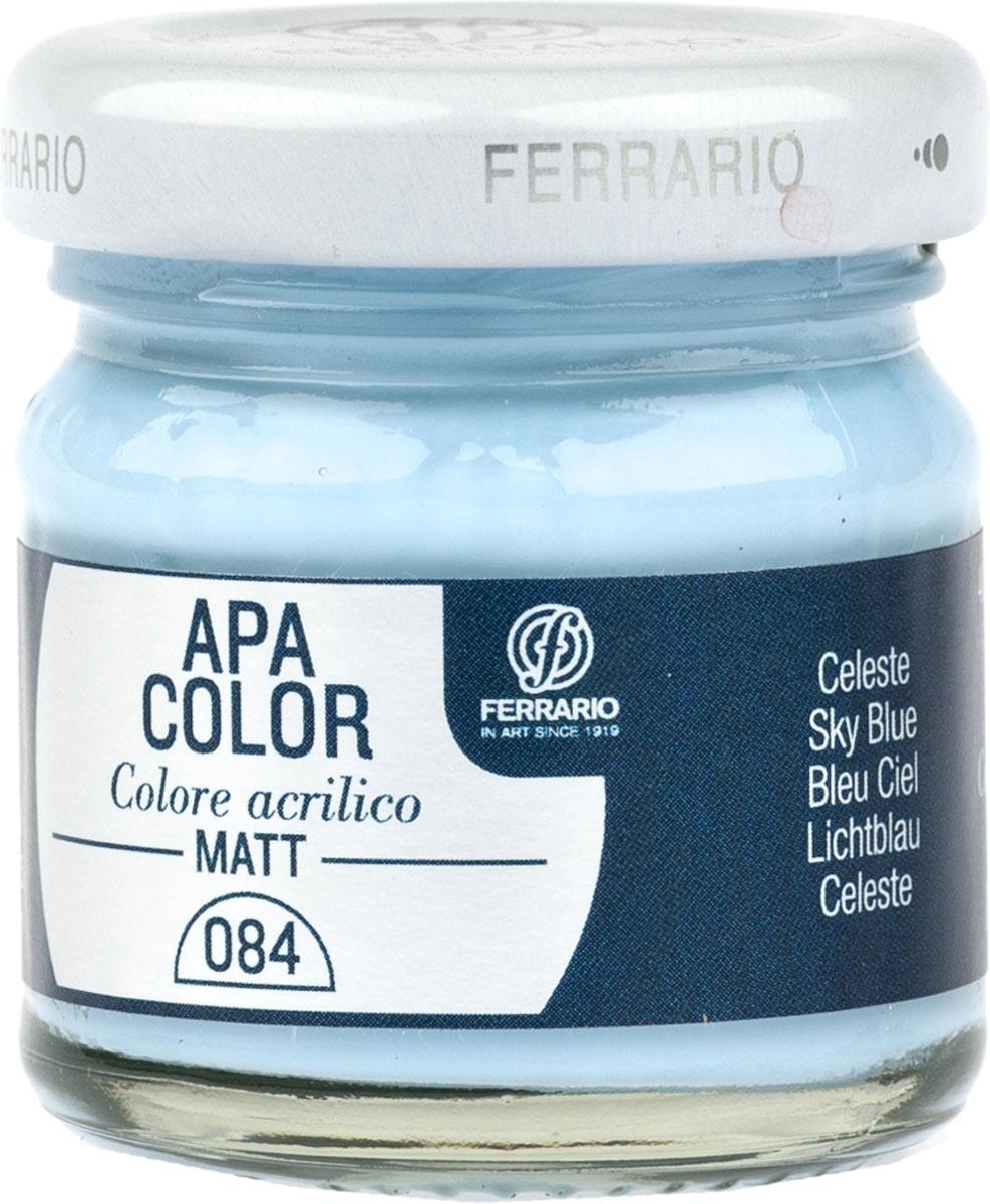 Ferrario Краска акриловая Apa Color цвет лазурный 40 мл BA0040А0084BA0040А0084Матовая акриловая краска Apa Color итальянской компании Ferrario на водной основе, готова к использованию. Основные качества акриловой краски Apa Color: прочность, светостойкость и экологичность. Благодаря акриловой смоле Apa Color пластична и не дает трещин. Именно поэтому краска прекрасно ложится на любые поверхности, будь то стекло, дерево или ткань, что особенно хорошо в дизайне и декоре. Она быстро сохнет, после высыхания становится водостойкой. Акриловая краска Apa Color не потускнеет со временем, ее светостойкость не позволит измениться цвету, он не выгорит на солнце и не пожелтеет. Акриловая краска Apa Color – это отличный выбор в пользу яркой живописи, так как в ее палитре только глубокие и насыщенные цвета. Из-за того, что акриловая краска Apa Color на водной основе, она почти совсем не пахнет, малотоксична – подходит для работы в помещениях, можно заниматься творчеством вместе с детьми. Акриловая краска Apa Color разводится водой, однако это не значит, что для нее нельзя использовать специальные растворители и медиумы, предназначенные для акриловых красок – в этом случае сохраняется высокая пигментированность, но объем краски увеличивается и появляется возможность создания различных фактур и эффектов. Акриловую краску Apa Color легко наносить кистью, шпателем, валиком.