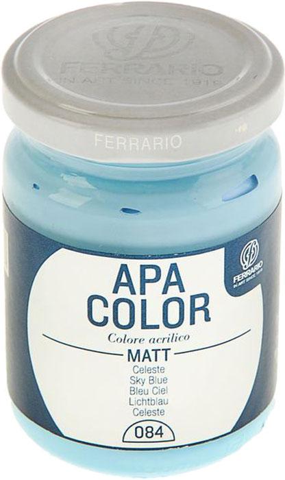 Ferrario Краска акриловая Apa Color цвет лазурный BA0095AO084BA0095AO084Матовая акриловая краска Apa Color итальянской компании Ferrario на водной основе, готова к использованию. Основные качества акриловой краски Apa Color: прочность, светостойкость и экологичность. Благодаря акриловой смоле Apa Color пластична и не дает трещин. Именно поэтому краска прекрасно ложится на любые поверхности, будь то стекло, дерево или ткань, что особенно хорошо в дизайне и декоре. Она быстро сохнет, после высыхания становится водостойкой. Акриловая краска Apa Color не потускнеет со временем, ее светостойкость не позволит измениться цвету, он не выгорит на солнце и не пожелтеет. Акриловая краска Apa Color – это отличный выбор в пользу яркой живописи, так как в ее палитре только глубокие и насыщенные цвета. Из-за того, что акриловая краска Apa Color на водной основе, она почти совсем не пахнет, малотоксична – подходит для работы в помещениях, можно заниматься творчеством вместе с детьми. Акриловая краска Apa Color разводится водой, однако это не значит, что для нее нельзя использовать специальные растворители и медиумы, предназначенные для акриловых красок – в этом случае сохраняется высокая пигментированность, но объем краски увеличивается и появляется возможность создания различных фактур и эффектов. Акриловую краску Apa Color легко наносить кистью, шпателем, валиком.