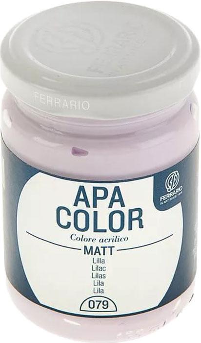 Ferrario Краска акриловая Apa Color цвет лиловый BA0095AO079BA0095AO079Матовая акриловая краска Apa Color итальянской компании Ferrario на водной основе, готова к использованию. Основные качества акриловой краски Apa Color: прочность, светостойкость и экологичность. Благодаря акриловой смоле Apa Color пластична и не дает трещин. Именно поэтому краска прекрасно ложится на любые поверхности, будь то стекло, дерево или ткань, что особенно хорошо в дизайне и декоре. Она быстро сохнет, после высыхания становится водостойкой. Акриловая краска Apa Color не потускнеет со временем, ее светостойкость не позволит измениться цвету, он не выгорит на солнце и не пожелтеет. Акриловая краска Apa Color – это отличный выбор в пользу яркой живописи, так как в ее палитре только глубокие и насыщенные цвета. Из-за того, что акриловая краска Apa Color на водной основе, она почти совсем не пахнет, малотоксична – подходит для работы в помещениях, можно заниматься творчеством вместе с детьми. Акриловая краска Apa Color разводится водой, однако это не значит, что для нее нельзя использовать специальные растворители и медиумы, предназначенные для акриловых красок – в этом случае сохраняется высокая пигментированность, но объем краски увеличивается и появляется возможность создания различных фактур и эффектов. Акриловую краску Apa Color легко наносить кистью, шпателем, валиком.