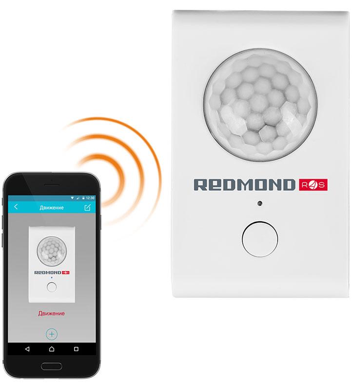 Умный датчик движения Redmond SkyGuard RG-D31S. – компактный беспроводной гаджет, с помощью которого  можно контролировать любые движения в доме или в другом помещении из любой точки мира. SkyGuard.  мгновенно отправит уведомление на ваш смартфон о любом несанкционированном движении в зоне его  действия.  Smart датчик легко монтируется, поэтому для его установки не требуется специального оборудования и знаний.  Максимальная дальность действия RG-D31S. доходит до 8 метров, а угол наблюдения составляет 180°.  Всю информацию о незапланированных передвижениях в помещении smart датчик передает в приложение Ready  for Sky Guard. Где бы вы ни находились, RG-D31S проинформирует о зафиксированных движениях. В течение  рабочего дня или во время отпуска можно со смартфона проверять обстановку в доме.  Смарт датчик можно встроить в уже существующую систему умного дома Redmond... В приложении Ready for Sky  Guard можно создать совместные сценарии работы RG-D31S. и других smart устройств Redmond. Например, после  срабатывания датчика сигнал поступает на умный цоколь, который мгновенно включит свет в помещении, чтобы  испугать злоумышленника.  RG-D31S работает в стандартном режиме при температуре от -10°С до +40°С.  Электропитание: 4,5 В Поддержка на операционных системах: 4.4 KitKat и выше, iOS 8.0. и выше Радиус действия: 8 м Угол обзора: 180° Допустимый диапазон рабочих температур: от –10 до 40°С
