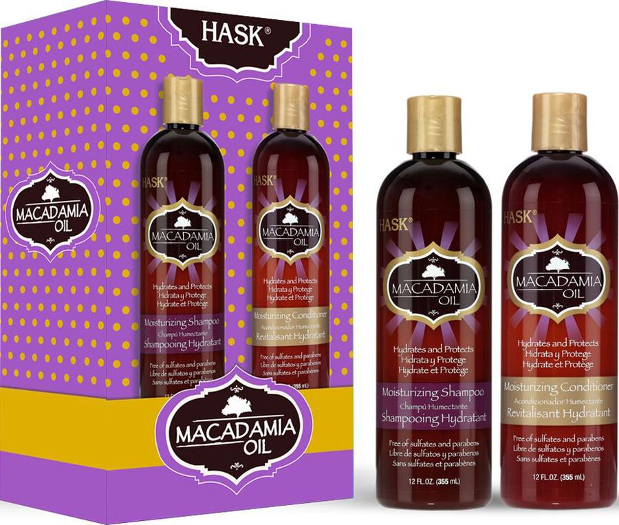 HASK Дуо Набор Macadamia для увлажнения волос (шампунь, кондиционер)