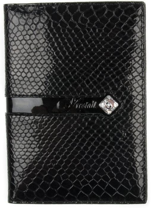 Обложка для автодокументов женская Krystall, цвет: черный. 0-485(СВ)0-485(СВ) крОригинальные кристаллы Swarovski. Обложка для автодокументов. Внутри пластиковая вставка. Отделение для кредитных карт.
