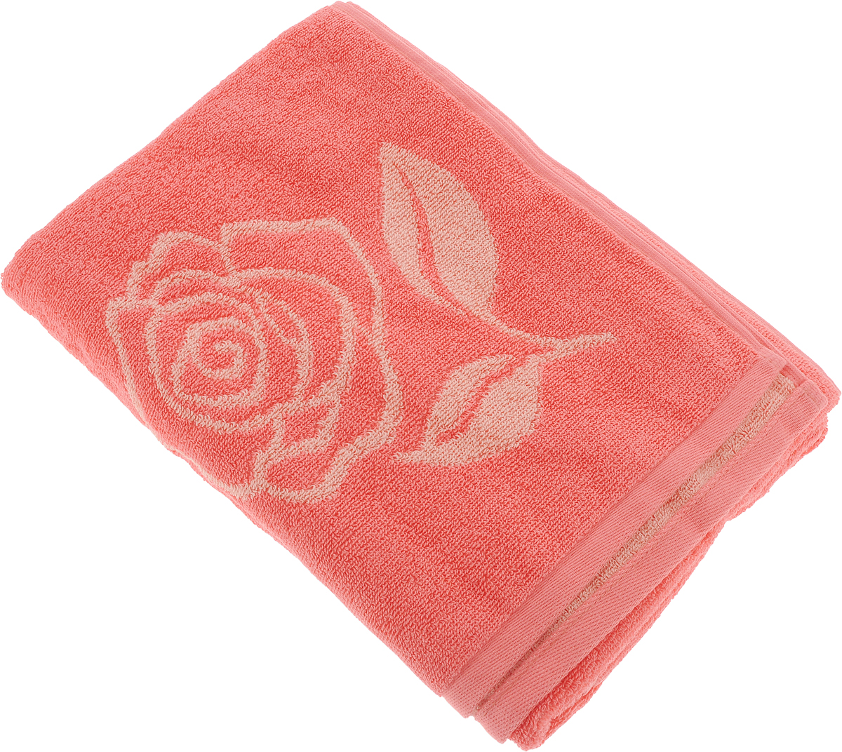 Полотенце банное Aquarelle Розы 1, цвет: розово-персиковый, коралловый, 70 х 140 см710447Полотенце банное AQUARELLE, размер 70х140см, серия-Розы 1, розово-персиковый, коралл