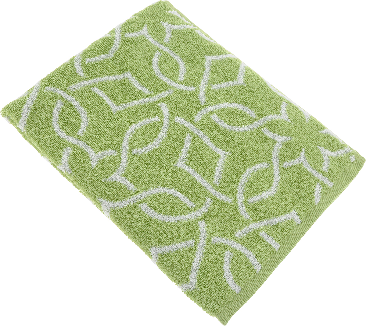 Полотенце для лица Aquarelle Стамбул, цвет: белый, травяной, 50 х 90 см. 710393 полотенце махровое aquarelle таллин 1 цвет ваниль 50 х 90 см 707762