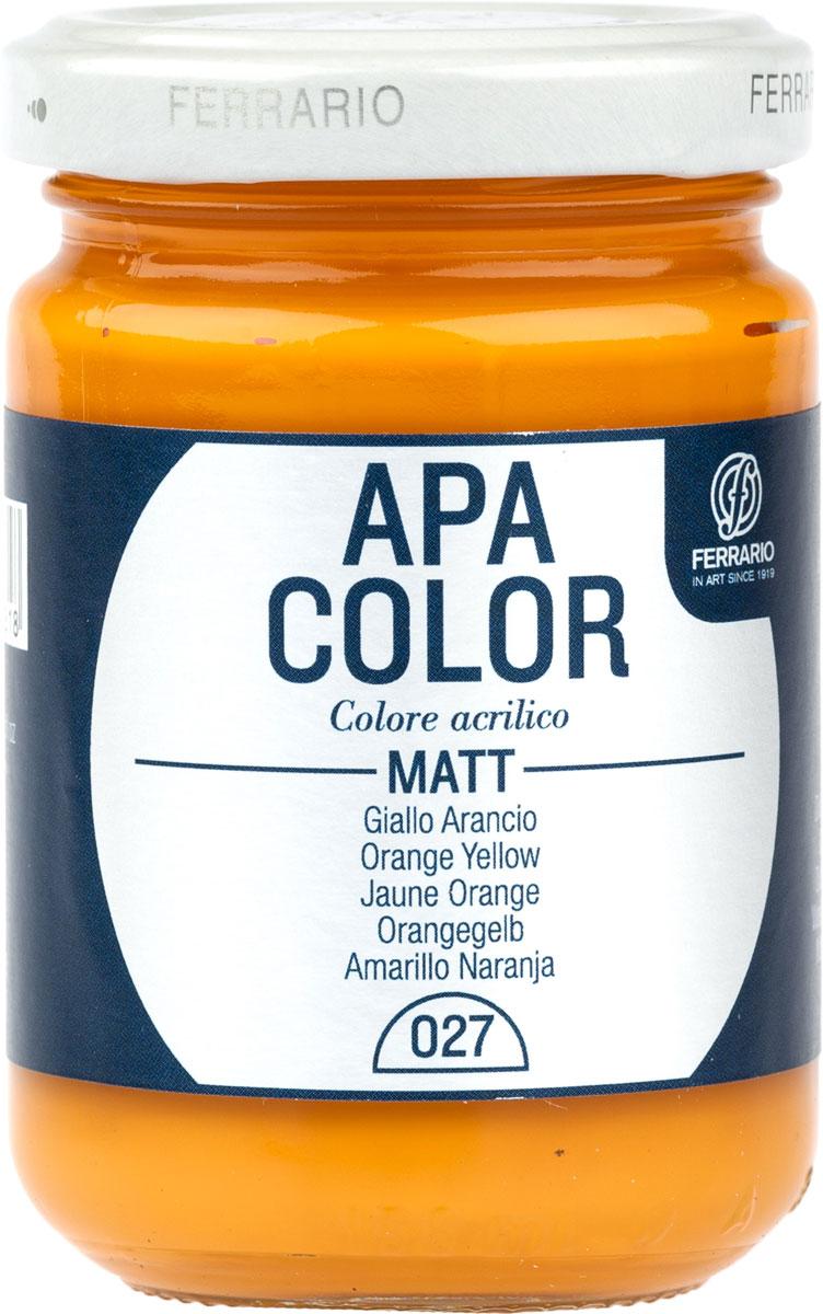 Ferrario Краска акриловая Apa Color цвет оранжево-желтый 150 млBA0095AO027Матовая акриловая краска Apa Color итальянской компании Ferrario на водной основе, готова к использованию. Основные качества акриловой краски Apa Color: прочность, светостойкость и экологичность. Благодаря акриловой смоле Apa Color пластична и не дает трещин. Именно поэтому краска прекрасно ложится на любые поверхности, будь то стекло, дерево или ткань, что особенно хорошо в дизайне и декоре. Она быстро сохнет, после высыхания становится водостойкой. Акриловая краска Apa Color не потускнеет со временем, ее светостойкость не позволит измениться цвету, он не выгорит на солнце и не пожелтеет. Акриловая краска Apa Color – это отличный выбор в пользу яркой живописи, так как в ее палитре только глубокие и насыщенные цвета. Из-за того, что акриловая краска Apa Color на водной основе, она почти совсем не пахнет, малотоксична – подходит для работы в помещениях, можно заниматься творчеством вместе с детьми. Акриловая краска Apa Color разводится водой, однако это не значит, что для нее нельзя использовать специальные растворители и медиумы, предназначенные для акриловых красок – в этом случае сохраняется высокая пигментированность, но объем краски увеличивается и появляется возможность создания различных фактур и эффектов. Акриловую краску Apa Color легко наносить кистью, шпателем, валиком.