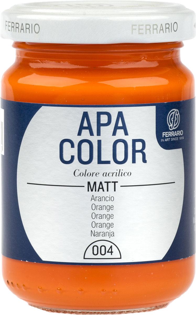 Ferrario Краска акриловая Apa Color цвет оранжевый BA0095AO004BA0095AO004Матовая акриловая краска Apa Color итальянской компании Ferrario на водной основе, готова к использованию. Основные качества акриловой краски Apa Color: прочность, светостойкость и экологичность. Благодаря акриловой смоле Apa Color пластична и не дает трещин. Именно поэтому краска прекрасно ложится на любые поверхности, будь то стекло, дерево или ткань, что особенно хорошо в дизайне и декоре. Она быстро сохнет, после высыхания становится водостойкой. Акриловая краска Apa Color не потускнеет со временем, ее светостойкость не позволит измениться цвету, он не выгорит на солнце и не пожелтеет. Акриловая краска Apa Color – это отличный выбор в пользу яркой живописи, так как в ее палитре только глубокие и насыщенные цвета. Из-за того, что акриловая краска Apa Color на водной основе, она почти совсем не пахнет, малотоксична – подходит для работы в помещениях, можно заниматься творчеством вместе с детьми. Акриловая краска Apa Color разводится водой, однако это не значит, что для нее нельзя использовать специальные растворители и медиумы, предназначенные для акриловых красок – в этом случае сохраняется высокая пигментированность, но объем краски увеличивается и появляется возможность создания различных фактур и эффектов. Акриловую краску Apa Color легко наносить кистью, шпателем, валиком.