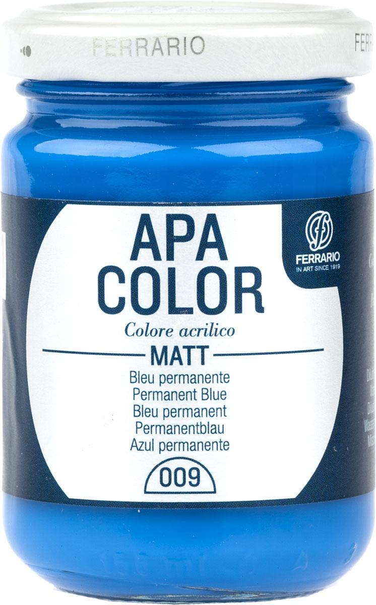 Ferrario Краска акриловая Apa Color цвет пермамент синийBA0095AO009Матовая акриловая краска Apa Color итальянской компании Ferrario на водной основе, готова к использованию. Основные качества акриловой краски Apa Color: прочность, светостойкость и экологичность. Благодаря акриловой смоле Apa Color пластична и не дает трещин. Именно поэтому краска прекрасно ложится на любые поверхности, будь то стекло, дерево или ткань, что особенно хорошо в дизайне и декоре. Она быстро сохнет, после высыхания становится водостойкой. Акриловая краска Apa Color не потускнеет со временем, ее светостойкость не позволит измениться цвету, он не выгорит на солнце и не пожелтеет. Акриловая краска Apa Color – это отличный выбор в пользу яркой живописи, так как в ее палитре только глубокие и насыщенные цвета. Из-за того, что акриловая краска Apa Color на водной основе, она почти совсем не пахнет, малотоксична – подходит для работы в помещениях, можно заниматься творчеством вместе с детьми. Акриловая краска Apa Color разводится водой, однако это не значит, что для нее нельзя использовать специальные растворители и медиумы, предназначенные для акриловых красок – в этом случае сохраняется высокая пигментированность, но объем краски увеличивается и появляется возможность создания различных фактур и эффектов. Акриловую краску Apa Color легко наносить кистью, шпателем, валиком.