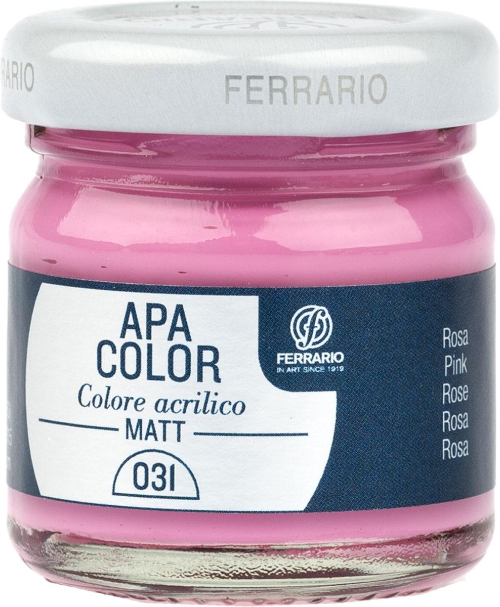 Ferrario Краска акриловая Apa Color цвет розовый BA0040А0031BA0040А0031Матовая акриловая краска Apa Color итальянской компании Ferrario на водной основе, готова к использованию. Основные качества акриловой краски Apa Color: прочность, светостойкость и экологичность. Благодаря акриловой смоле Apa Color пластична и не дает трещин. Именно поэтому краска прекрасно ложится на любые поверхности, будь то стекло, дерево или ткань, что особенно хорошо в дизайне и декоре. Она быстро сохнет, после высыхания становится водостойкой. Акриловая краска Apa Color не потускнеет со временем, ее светостойкость не позволит измениться цвету, он не выгорит на солнце и не пожелтеет. Акриловая краска Apa Color – это отличный выбор в пользу яркой живописи, так как в ее палитре только глубокие и насыщенные цвета. Из-за того, что акриловая краска Apa Color на водной основе, она почти совсем не пахнет, малотоксична – подходит для работы в помещениях, можно заниматься творчеством вместе с детьми. Акриловая краска Apa Color разводится водой, однако это не значит, что для нее нельзя использовать специальные растворители и медиумы, предназначенные для акриловых красок – в этом случае сохраняется высокая пигментированность, но объем краски увеличивается и появляется возможность создания различных фактур и эффектов. Акриловую краску Apa Color легко наносить кистью, шпателем, валиком.
