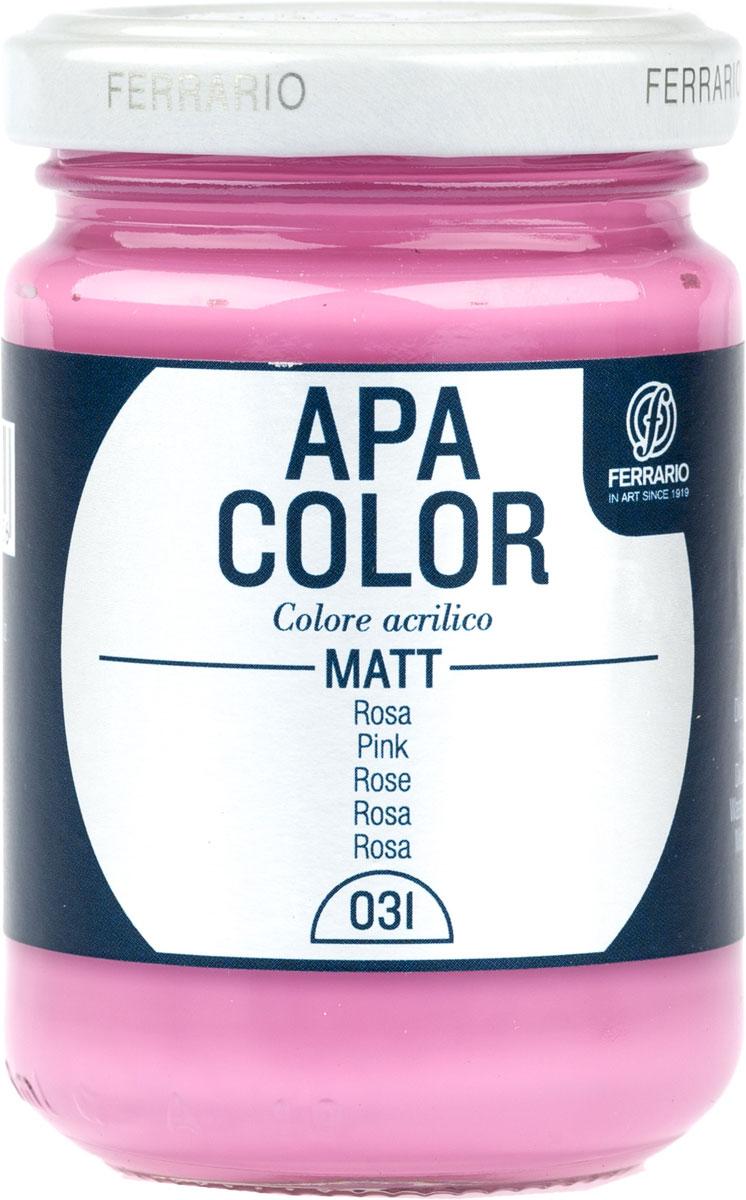 Ferrario Краска акриловая Apa Color цвет розовый BA0095AO031 ferrario краска акриловая apa color цвет розовый холодный перламутровый ba0095ao055