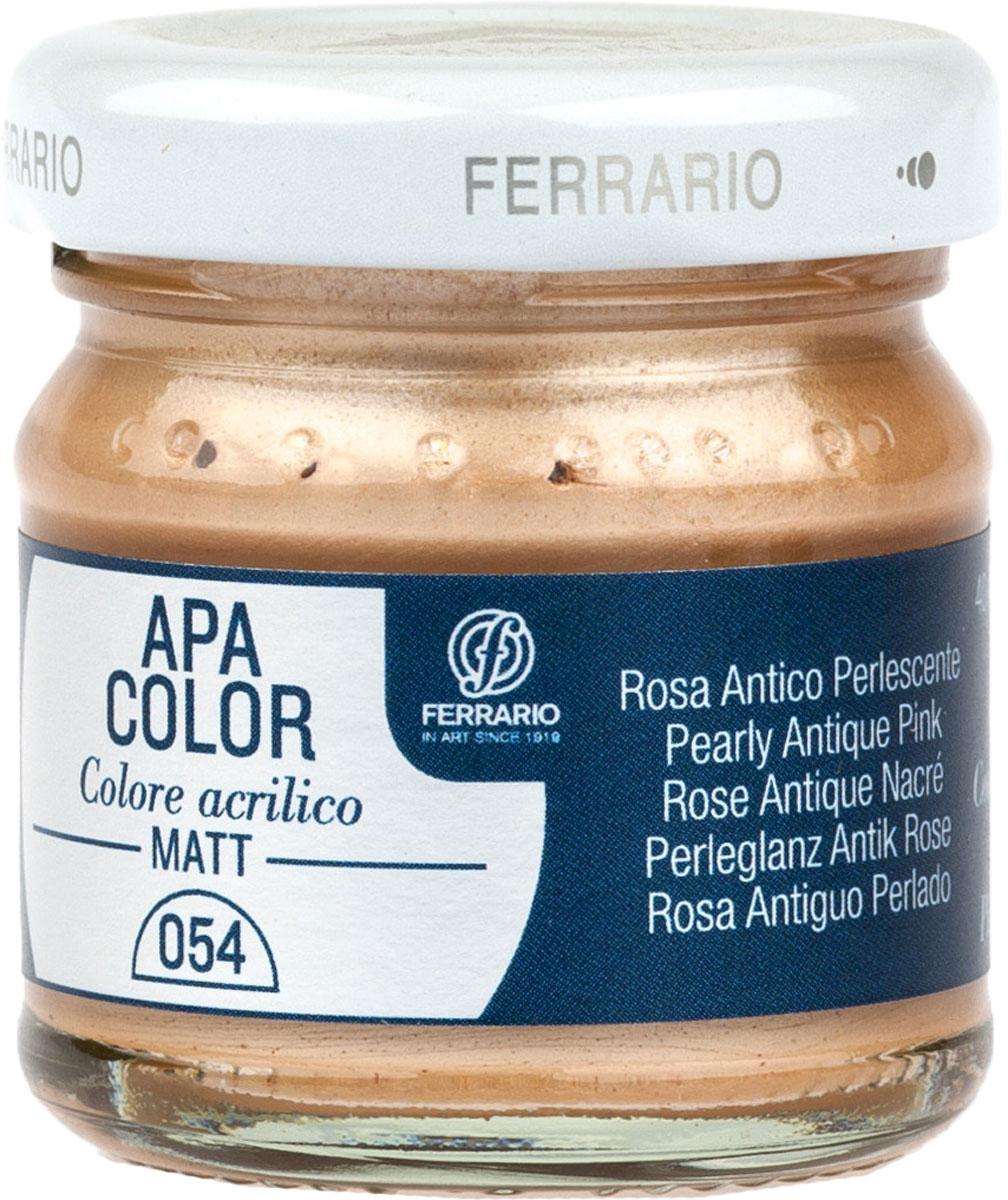 Ferrario Краска акриловая Apa Color цвет розовый античныйBA0040А0054Матовая акриловая краска Apa Color итальянской компании Ferrario на водной основе, готова к использованию. Основные качества акриловой краски Apa Color: прочность, светостойкость и экологичность. Благодаря акриловой смоле Apa Color пластична и не дает трещин. Именно поэтому краска прекрасно ложится на любые поверхности, будь то стекло, дерево или ткань, что особенно хорошо в дизайне и декоре. Она быстро сохнет, после высыхания становится водостойкой. Акриловая краска Apa Color не потускнеет со временем, ее светостойкость не позволит измениться цвету, он не выгорит на солнце и не пожелтеет. Акриловая краска Apa Color – это отличный выбор в пользу яркой живописи, так как в ее палитре только глубокие и насыщенные цвета. Из-за того, что акриловая краска Apa Color на водной основе, она почти совсем не пахнет, малотоксична – подходит для работы в помещениях, можно заниматься творчеством вместе с детьми. Акриловая краска Apa Color разводится водой, однако это не значит, что для нее нельзя использовать специальные растворители и медиумы, предназначенные для акриловых красок – в этом случае сохраняется высокая пигментированность, но объем краски увеличивается и появляется возможность создания различных фактур и эффектов. Акриловую краску Apa Color легко наносить кистью, шпателем, валиком.