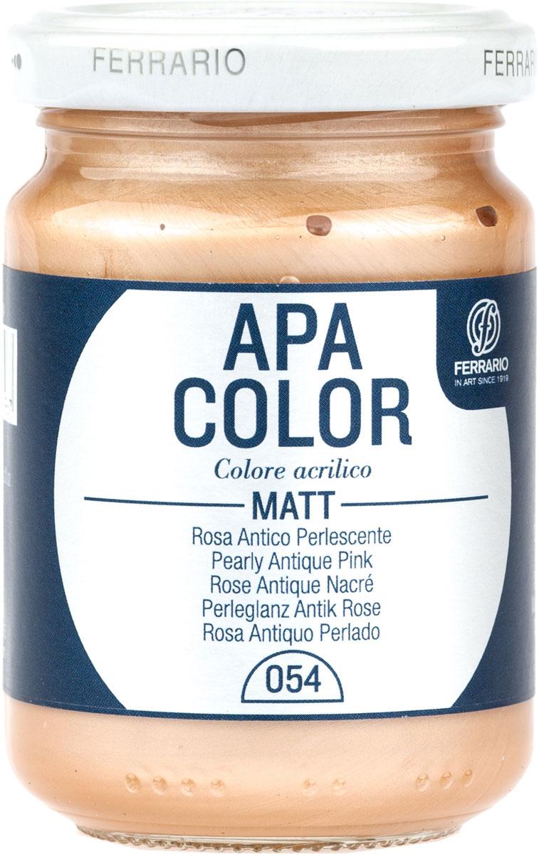 Ferrario Краска акриловая Apa Color цвет розовый античный перламутровыйBA0095AO054Матовая акриловая краска Apa Color итальянской компании Ferrario на водной основе, готова к использованию. Основные качества акриловой краски Apa Color: прочность, светостойкость и экологичность. Благодаря акриловой смоле Apa Color пластична и не дает трещин. Именно поэтому краска прекрасно ложится на любые поверхности, будь то стекло, дерево или ткань, что особенно хорошо в дизайне и декоре. Она быстро сохнет, после высыхания становится водостойкой. Акриловая краска Apa Color не потускнеет со временем, ее светостойкость не позволит измениться цвету, он не выгорит на солнце и не пожелтеет. Акриловая краска Apa Color – это отличный выбор в пользу яркой живописи, так как в ее палитре только глубокие и насыщенные цвета. Из-за того, что акриловая краска Apa Color на водной основе, она почти совсем не пахнет, малотоксична – подходит для работы в помещениях, можно заниматься творчеством вместе с детьми. Акриловая краска Apa Color разводится водой, однако это не значит, что для нее нельзя использовать специальные растворители и медиумы, предназначенные для акриловых красок – в этом случае сохраняется высокая пигментированность, но объем краски увеличивается и появляется возможность создания различных фактур и эффектов. Акриловую краску Apa Color легко наносить кистью, шпателем, валиком.