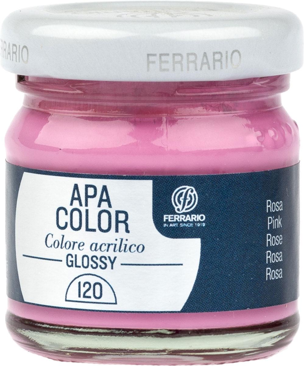 Ferrario Краска акриловая Apa Color цвет розовый глянцевыйBA0040В0120Глянцевая акриловая краска Apa Color итальянской компании Ferrario на водной основе, готова к использованию. Основные качества акриловой краски Apa Color: прочность, светостойкость и экологичность. Благодаря акриловой смоле Apa Color пластична и не дает трещин. Именно поэтому краска прекрасно ложится на любые поверхности, будь то стекло, дерево или ткань, что особенно хорошо в дизайне и декоре. Она быстро сохнет, после высыхания становится водостойкой. Акриловая краска Apa Color не потускнеет со временем, ее светостойкость не позволит измениться цвету, он не выгорит на солнце и не пожелтеет. Акриловая краска Apa Color – это отличный выбор в пользу яркой живописи, так как в ее палитре только глубокие и насыщенные цвета. Из-за того, что акриловая краска Apa Color на водной основе, она почти совсем не пахнет, малотоксична – подходит для работы в помещениях, можно заниматься творчеством вместе с детьми. Акриловая краска Apa Color разводится водой, однако это не значит, что для нее нельзя использовать специальные растворители и медиумы, предназначенные для акриловых красок – в этом случае сохраняется высокая пигментированность, но объем краски увеличивается и появляется возможность создания различных фактур и эффектов. Акриловую краску Apa Color легко наносить кистью, шпателем, валиком.