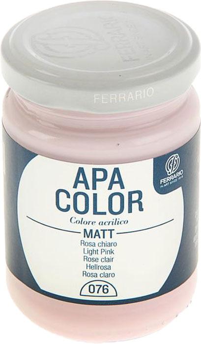 Ferrario Краска акриловая Apa Color цвет розовый светлый BA0095AO076BA0095AO076Матовая акриловая краска Apa Color итальянской компании Ferrario на водной основе, готова к использованию. Основные качества акриловой краски Apa Color: прочность, светостойкость и экологичность. Благодаря акриловой смоле Apa Color пластична и не дает трещин. Именно поэтому краска прекрасно ложится на любые поверхности, будь то стекло, дерево или ткань, что особенно хорошо в дизайне и декоре. Она быстро сохнет, после высыхания становится водостойкой. Акриловая краска Apa Color не потускнеет со временем, ее светостойкость не позволит измениться цвету, он не выгорит на солнце и не пожелтеет. Акриловая краска Apa Color – это отличный выбор в пользу яркой живописи, так как в ее палитре только глубокие и насыщенные цвета. Из-за того, что акриловая краска Apa Color на водной основе, она почти совсем не пахнет, малотоксична – подходит для работы в помещениях, можно заниматься творчеством вместе с детьми. Акриловая краска Apa Color разводится водой, однако это не значит, что для нее нельзя использовать специальные растворители и медиумы, предназначенные для акриловых красок – в этом случае сохраняется высокая пигментированность, но объем краски увеличивается и появляется возможность создания различных фактур и эффектов. Акриловую краску Apa Color легко наносить кистью, шпателем, валиком.