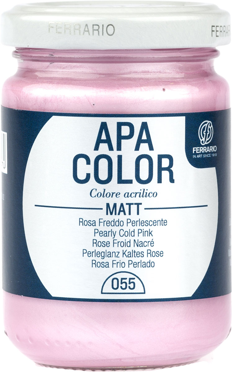Ferrario Краска акриловая Apa Color цвет розовый холодный перламутровый BA0095AO055BA0095AO055Матовая акриловая краска Apa Color итальянской компании Ferrario на водной основе, готова к использованию. Основные качества акриловой краски Apa Color: прочность, светостойкость и экологичность. Благодаря акриловой смоле Apa Color пластична и не дает трещин. Именно поэтому краска прекрасно ложится на любые поверхности, будь то стекло, дерево или ткань, что особенно хорошо в дизайне и декоре. Она быстро сохнет, после высыхания становится водостойкой. Акриловая краска Apa Color не потускнеет со временем, ее светостойкость не позволит измениться цвету, он не выгорит на солнце и не пожелтеет. Акриловая краска Apa Color – это отличный выбор в пользу яркой живописи, так как в ее палитре только глубокие и насыщенные цвета. Из-за того, что акриловая краска Apa Color на водной основе, она почти совсем не пахнет, малотоксична – подходит для работы в помещениях, можно заниматься творчеством вместе с детьми. Акриловая краска Apa Color разводится водой, однако это не значит, что для нее нельзя использовать специальные растворители и медиумы, предназначенные для акриловых красок – в этом случае сохраняется высокая пигментированность, но объем краски увеличивается и появляется возможность создания различных фактур и эффектов. Акриловую краску Apa Color легко наносить кистью, шпателем, валиком.