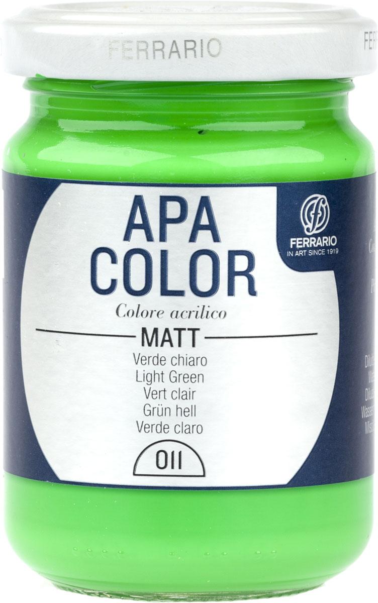 Ferrario Краска акриловая Apa Color цвет светло-зеленыйBA0095AO011Матовая акриловая краска Apa Color итальянской компании Ferrario на водной основе, готова к использованию. Основные качества акриловой краски Apa Color: прочность, светостойкость и экологичность. Благодаря акриловой смоле Apa Color пластична и не дает трещин. Именно поэтому краска прекрасно ложится на любые поверхности, будь то стекло, дерево или ткань, что особенно хорошо в дизайне и декоре. Она быстро сохнет, после высыхания становится водостойкой. Акриловая краска Apa Color не потускнеет со временем, ее светостойкость не позволит измениться цвету, он не выгорит на солнце и не пожелтеет. Акриловая краска Apa Color – это отличный выбор в пользу яркой живописи, так как в ее палитре только глубокие и насыщенные цвета. Из-за того, что акриловая краска Apa Color на водной основе, она почти совсем не пахнет, малотоксична – подходит для работы в помещениях, можно заниматься творчеством вместе с детьми. Акриловая краска Apa Color разводится водой, однако это не значит, что для нее нельзя использовать специальные растворители и медиумы, предназначенные для акриловых красок – в этом случае сохраняется высокая пигментированность, но объем краски увеличивается и появляется возможность создания различных фактур и эффектов. Акриловую краску Apa Color легко наносить кистью, шпателем, валиком.