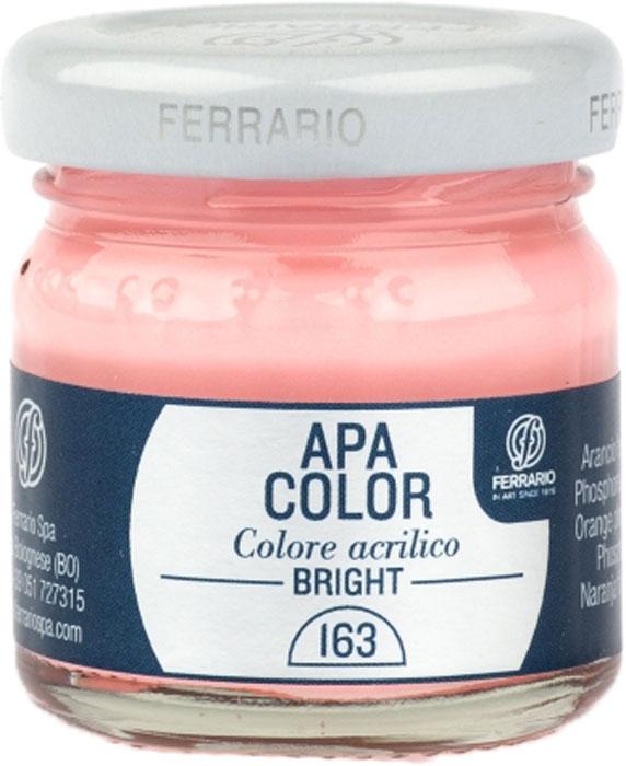 Ferrario Краска акриловая Apa Color цвет светло-оранжевый флуоресцентныйBA0040С0163Флуоресцентная акриловая краска Apa Color итальянской компании Ferrario на водной основе, готова к использованию. Основные качества акриловой краски Apa Color: прочность, светостойкость и экологичность. Благодаря акриловой смоле Apa Color пластична и не дает трещин. Именно поэтому краска прекрасно ложится на любые поверхности, будь то стекло, дерево или ткань, что особенно хорошо в дизайне и декоре. Она быстро сохнет, после высыхания становится водостойкой. Акриловая краска Apa Color не потускнеет со временем, ее светостойкость не позволит измениться цвету, он не выгорит на солнце и не пожелтеет. Акриловая краска Apa Color – это отличный выбор в пользу яркой живописи, так как в ее палитре только глубокие и насыщенные цвета. Из-за того, что акриловая краска Apa Color на водной основе, она почти совсем не пахнет, малотоксична – подходит для работы в помещениях, можно заниматься творчеством вместе с детьми. Акриловая краска Apa Color разводится водой, однако это не значит, что для нее нельзя использовать специальные растворители и медиумы, предназначенные для акриловых красок – в этом случае сохраняется высокая пигментированность, но объем краски увеличивается и появляется возможность создания различных фактур и эффектов. Акриловую краску Apa Color легко наносить кистью, шпателем, валиком.