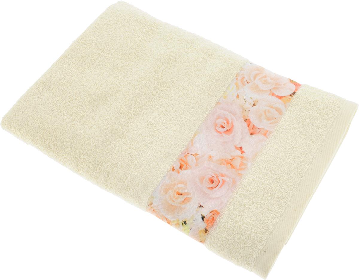 """Банное полотенце Aquarelle """"Фотобордюр"""" выполнено из махровой ткани и  оформлено цветочным принтом. Изделие отлично впитывает влагу, быстро  сохнет, сохраняет яркость цвета и не теряет форму даже после многократных  стирок. Такое полотенце очень практично и неприхотливо в уходе."""