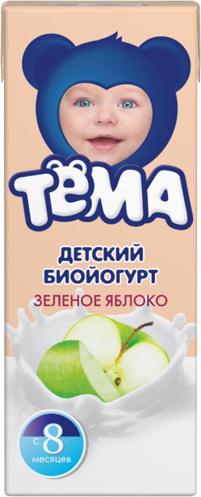 Биойогурт Тёма детский Зеленое яблоко с 8 месяцев обогащенный бифидобактериями.