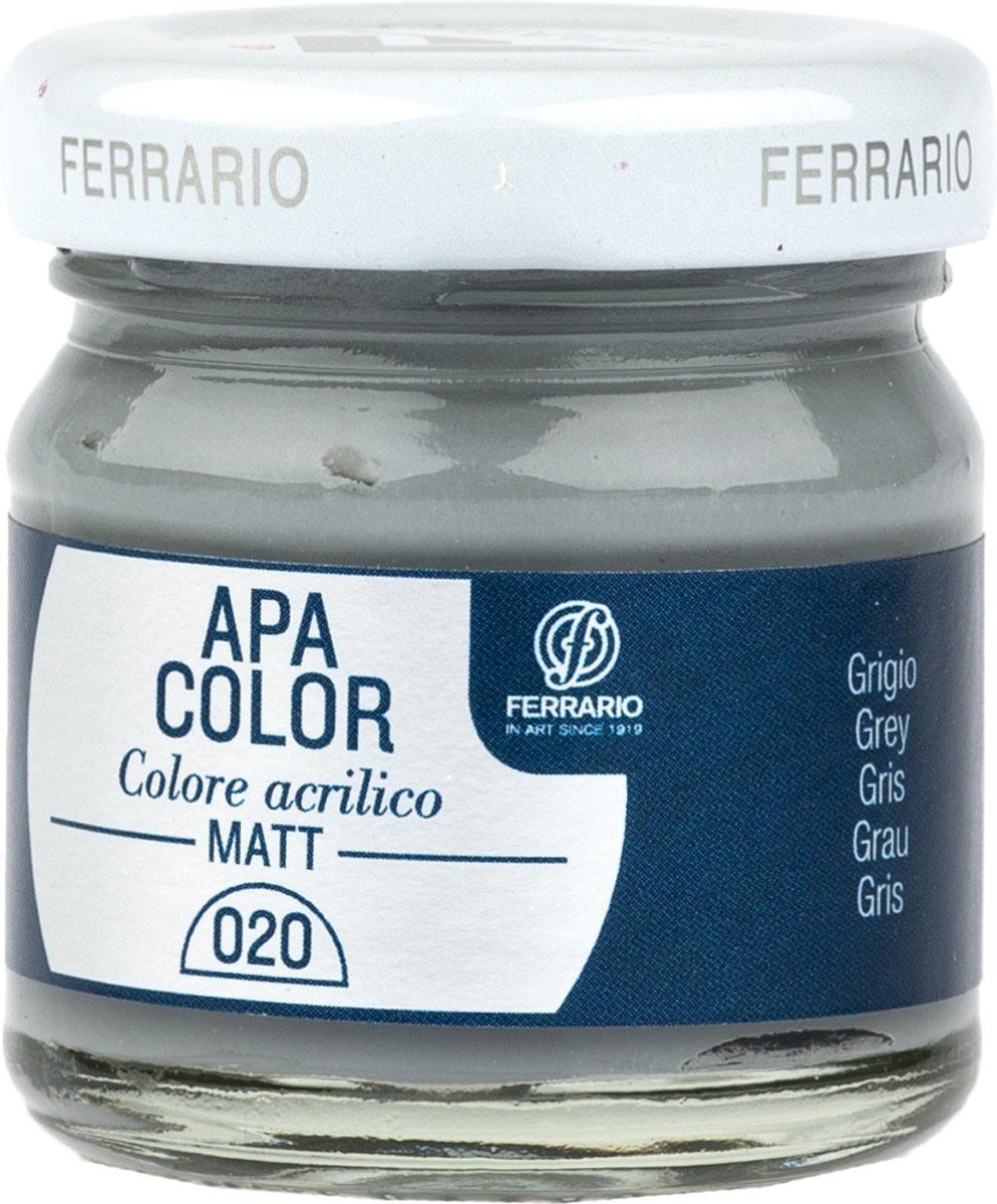 Ferrario Краска акриловая Apa Color цвет серый BA0040А0020BA0040А0020Матовая акриловая краска Apa Color итальянской компании Ferrario на водной основе, готова к использованию. Основные качества акриловой краски Apa Color: прочность, светостойкость и экологичность. Благодаря акриловой смоле Apa Color пластична и не дает трещин. Именно поэтому краска прекрасно ложится на любые поверхности, будь то стекло, дерево или ткань, что особенно хорошо в дизайне и декоре. Она быстро сохнет, после высыхания становится водостойкой. Акриловая краска Apa Color не потускнеет со временем, ее светостойкость не позволит измениться цвету, он не выгорит на солнце и не пожелтеет. Акриловая краска Apa Color – это отличный выбор в пользу яркой живописи, так как в ее палитре только глубокие и насыщенные цвета. Из-за того, что акриловая краска Apa Color на водной основе, она почти совсем не пахнет, малотоксична – подходит для работы в помещениях, можно заниматься творчеством вместе с детьми. Акриловая краска Apa Color разводится водой, однако это не значит, что для нее нельзя использовать специальные растворители и медиумы, предназначенные для акриловых красок – в этом случае сохраняется высокая пигментированность, но объем краски увеличивается и появляется возможность создания различных фактур и эффектов. Акриловую краску Apa Color легко наносить кистью, шпателем, валиком.