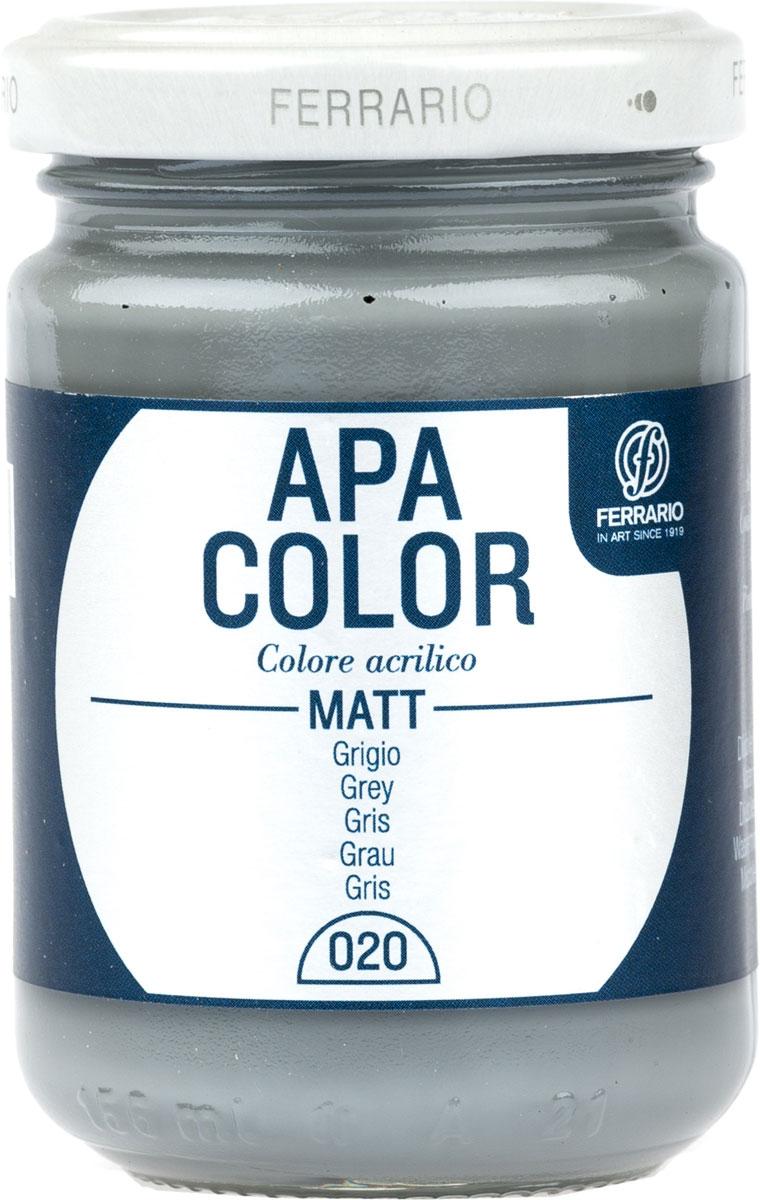Ferrario Краска акриловая Apa Color цвет серый BA0095AO020BA0095AO020Матовая акриловая краска Apa Color итальянской компании Ferrario на водной основе, готова к использованию. Основные качества акриловой краски Apa Color: прочность, светостойкость и экологичность. Благодаря акриловой смоле Apa Color пластична и не дает трещин. Именно поэтому краска прекрасно ложится на любые поверхности, будь то стекло, дерево или ткань, что особенно хорошо в дизайне и декоре. Она быстро сохнет, после высыхания становится водостойкой. Акриловая краска Apa Color не потускнеет со временем, ее светостойкость не позволит измениться цвету, он не выгорит на солнце и не пожелтеет. Акриловая краска Apa Color – это отличный выбор в пользу яркой живописи, так как в ее палитре только глубокие и насыщенные цвета. Из-за того, что акриловая краска Apa Color на водной основе, она почти совсем не пахнет, малотоксична – подходит для работы в помещениях, можно заниматься творчеством вместе с детьми. Акриловая краска Apa Color разводится водой, однако это не значит, что для нее нельзя использовать специальные растворители и медиумы, предназначенные для акриловых красок – в этом случае сохраняется высокая пигментированность, но объем краски увеличивается и появляется возможность создания различных фактур и эффектов. Акриловую краску Apa Color легко наносить кистью, шпателем, валиком.