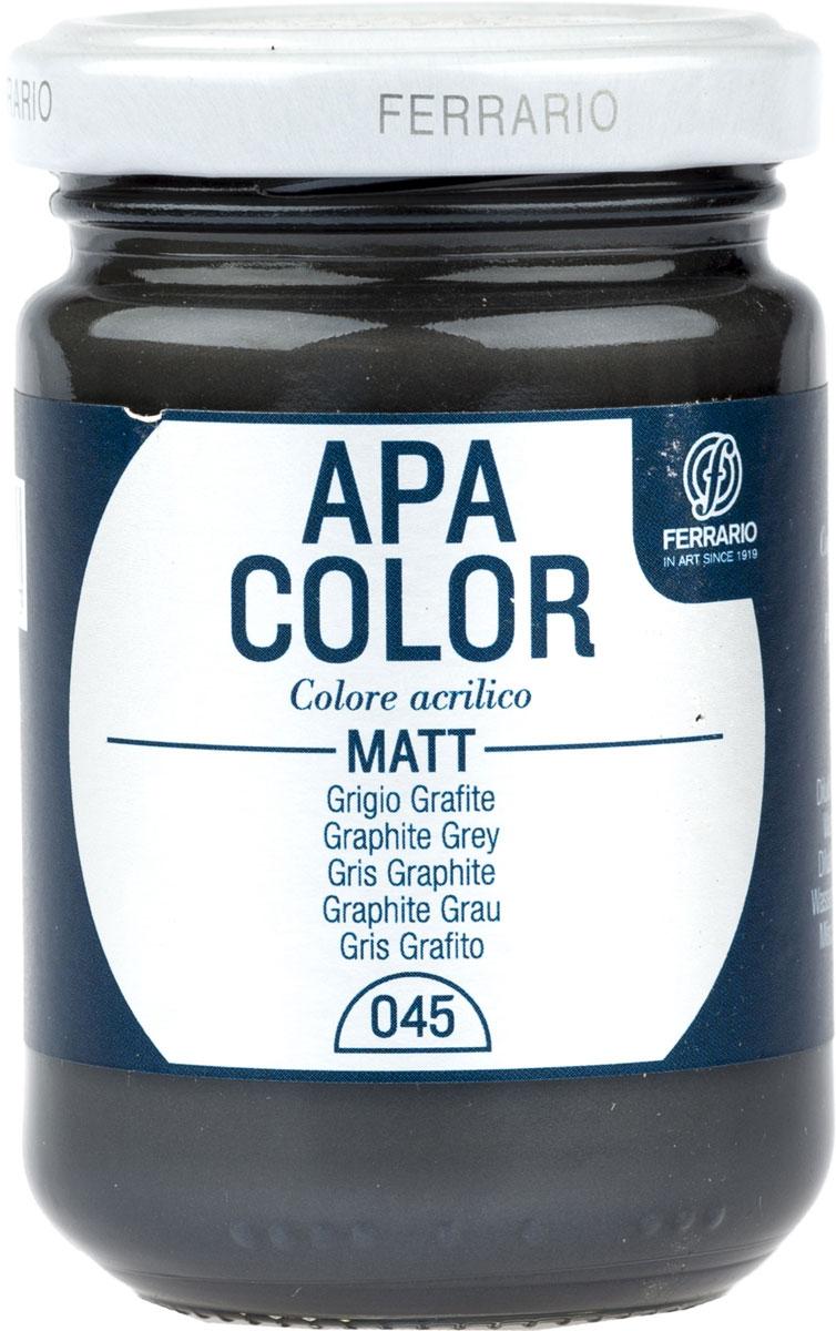 Ferrario Краска акриловая Apa Color цвет серый графит BA0095AO045 -  Краски