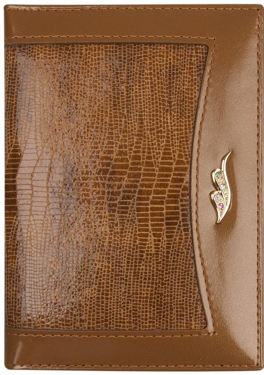Обложка для автодокументов женская Constanta, цвет: светло-коричневый. 0-610Натуральная кожаОбложка для автодокументов, внутри пластиковый вкладыш, четыре кармашка для кредитных карт.