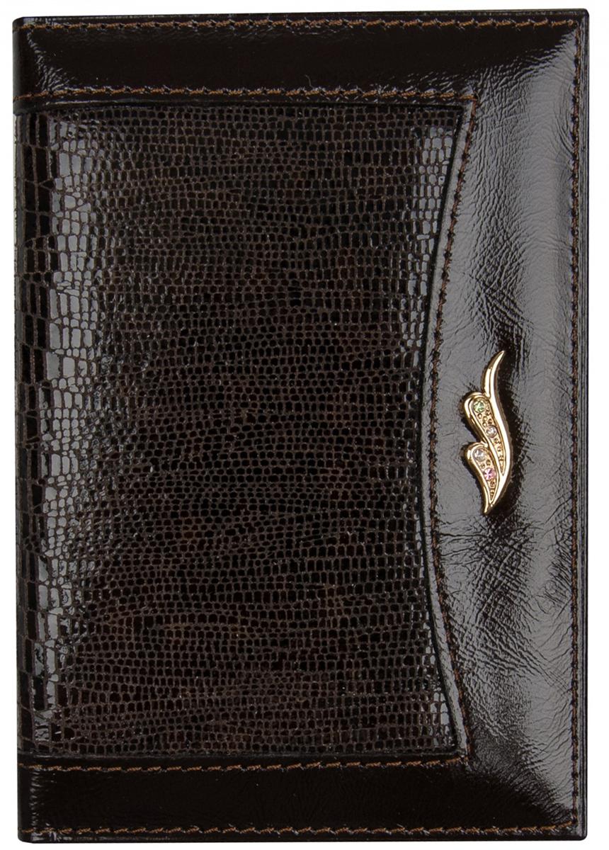 Обложка для автодокументов женская Constanta, цвет: темно-коричневый. 0-6100-610 Teyus Shiny т.корОбложка для автодокументов, внутри пластиковый вкладыш, четыре кармашка для кредитных карт.